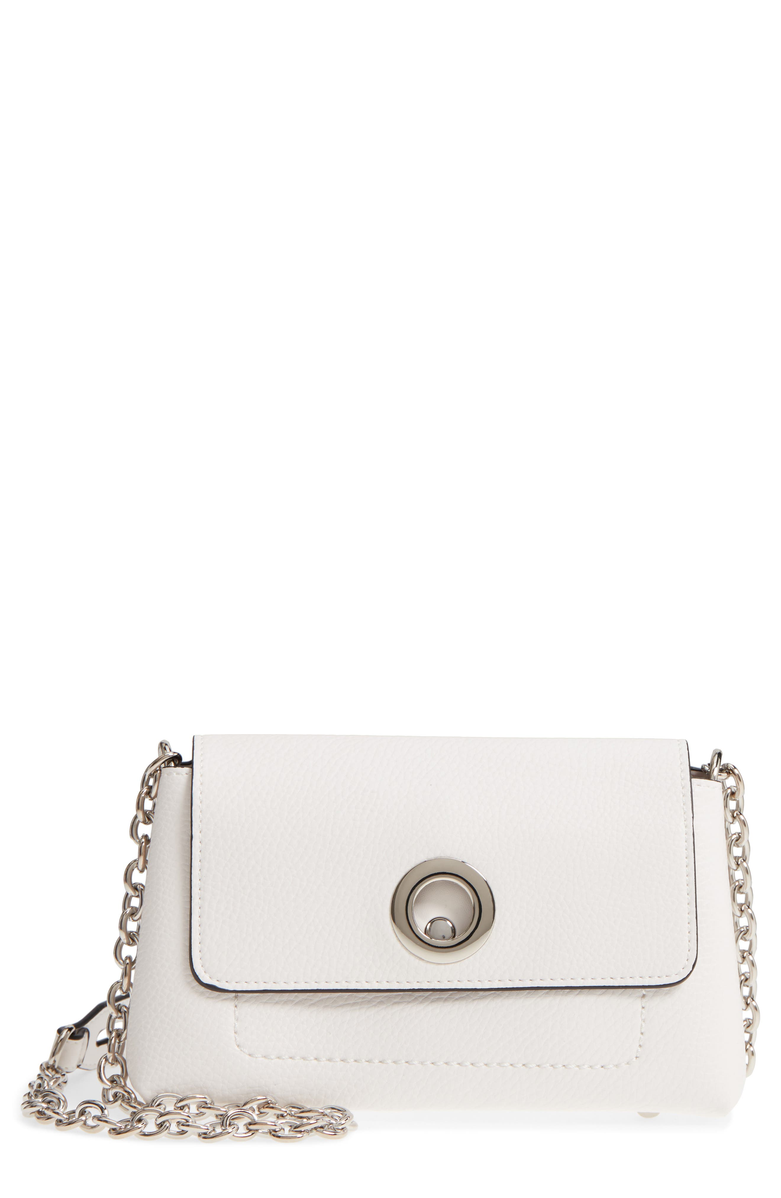 Sondra Roberts Chain Strap Faux Leather Crossbody Bag