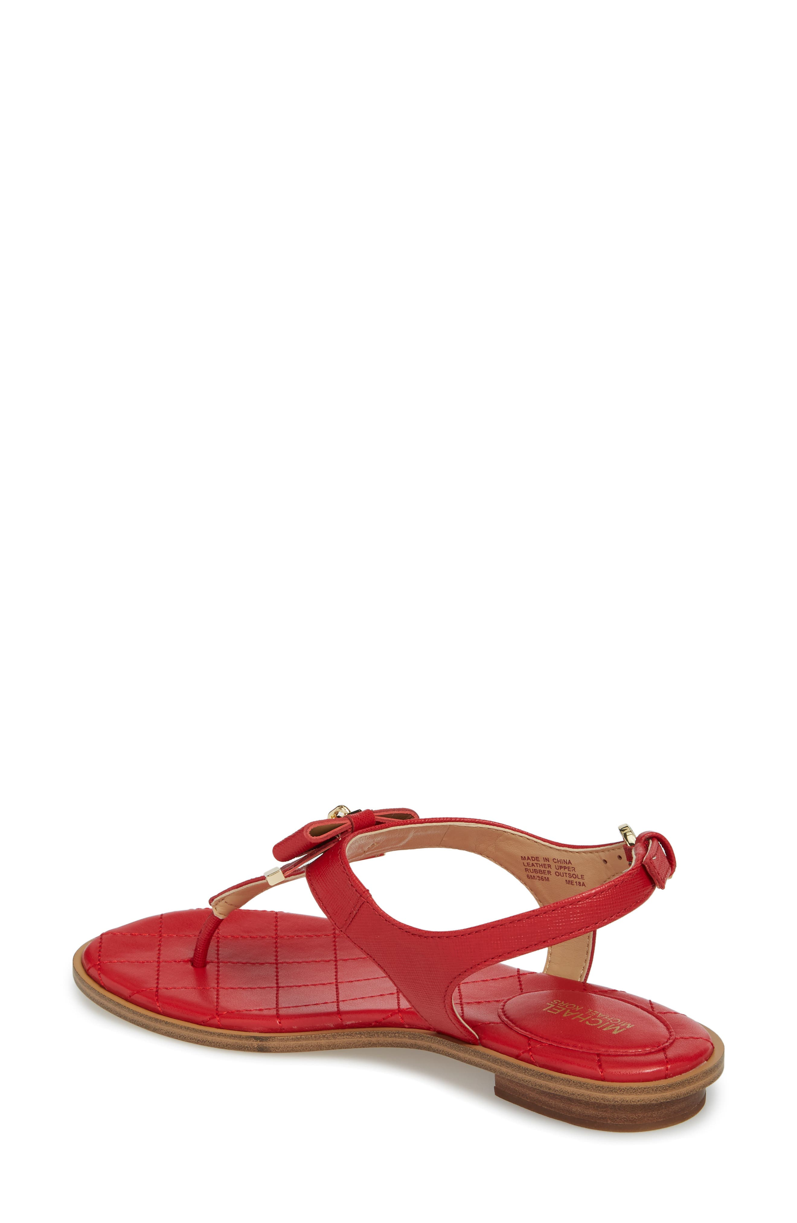 Alice Sandal,                             Alternate thumbnail 2, color,                             Bright Red