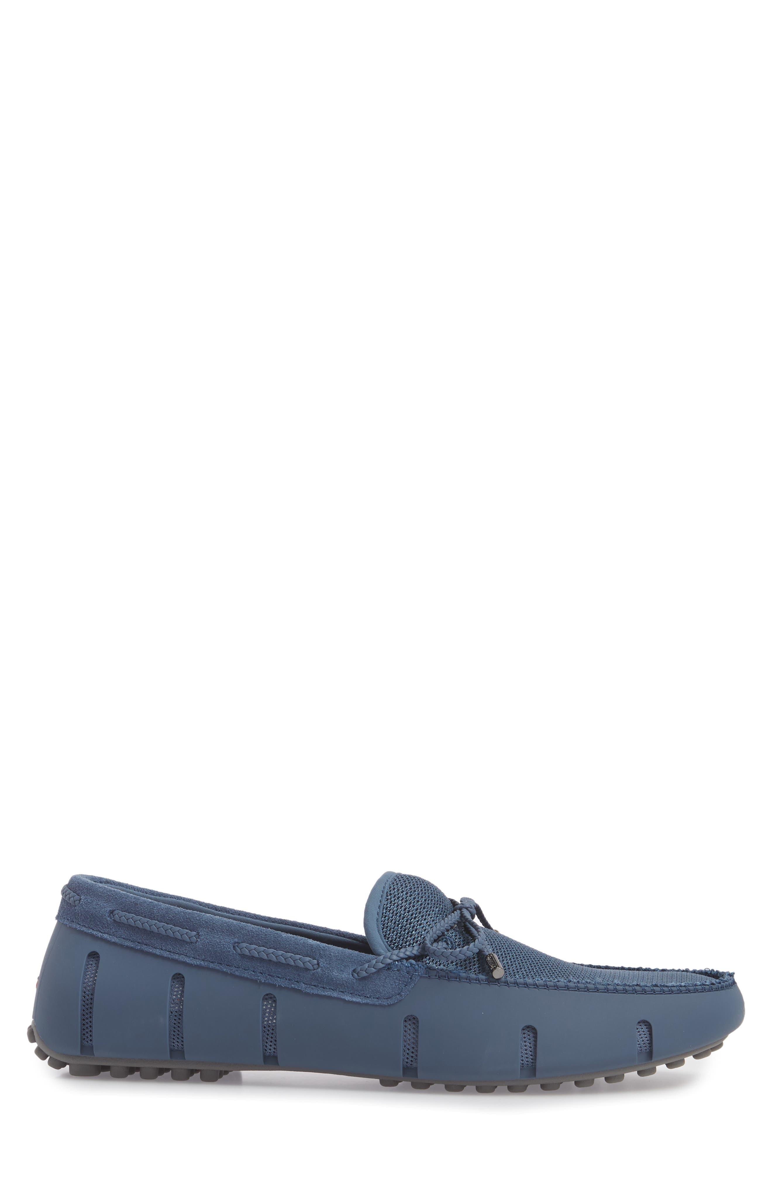 Washable Driving Loafer,                             Alternate thumbnail 3, color,                             Slate/ Grey Fabric