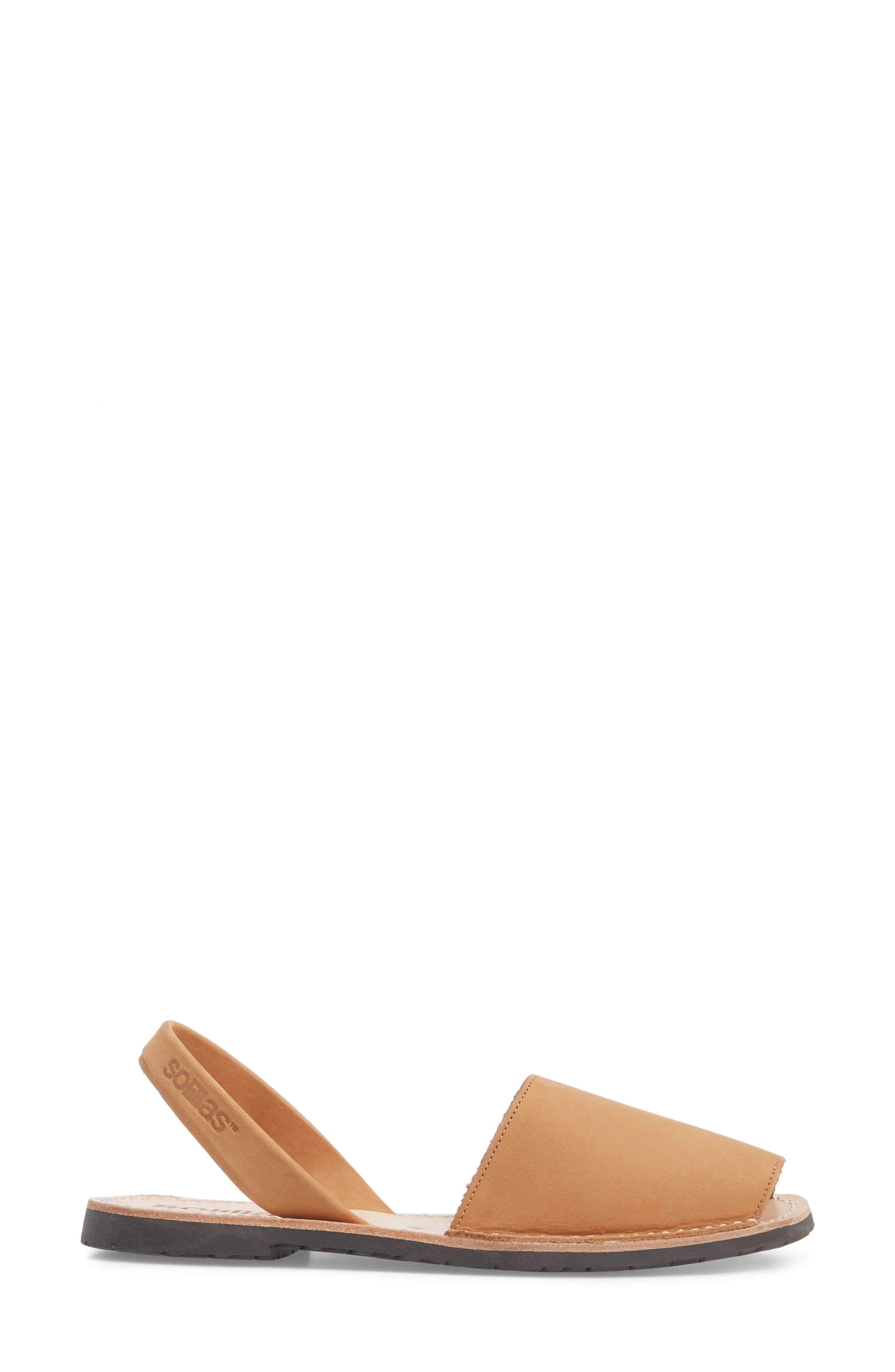 Flat Sandal,                             Alternate thumbnail 3, color,                             Tan
