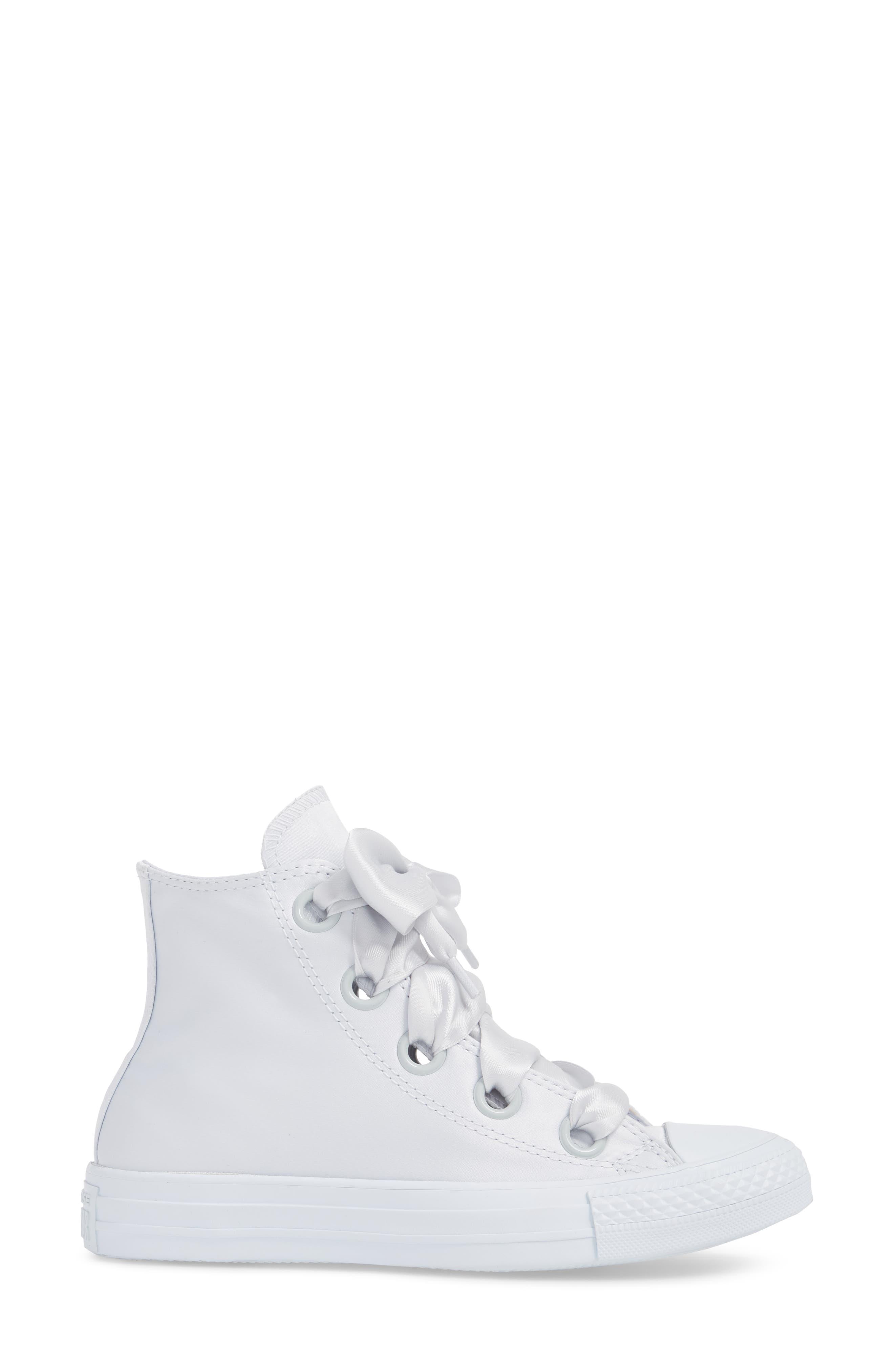 Chuck Taylor<sup>®</sup> All Star<sup>®</sup> Big Eyelet High Top Sneaker,                             Alternate thumbnail 3, color,                             Platinum