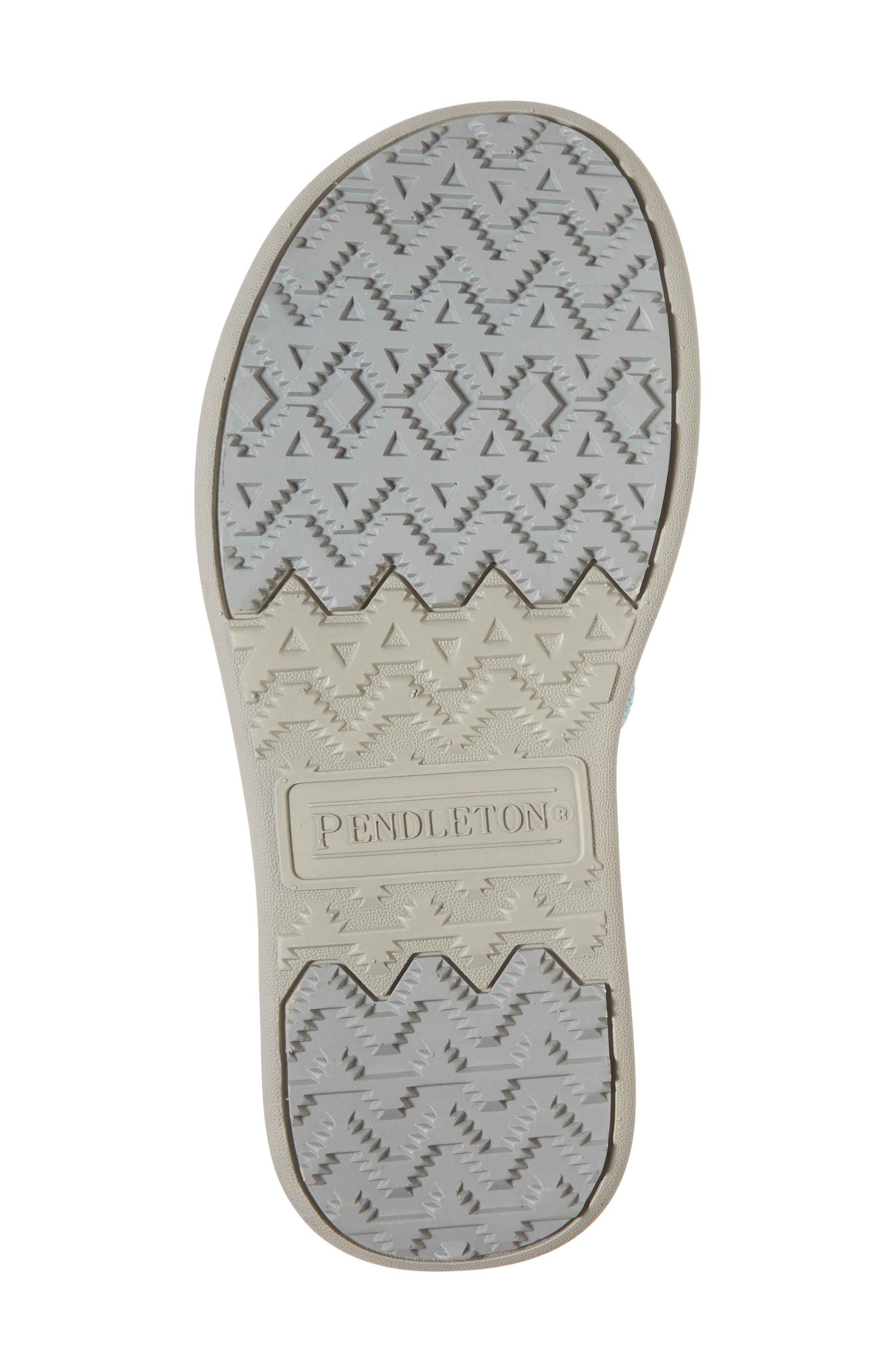 Pendleton Surf Stripe Flip Flop,                             Alternate thumbnail 6, color,                             Aqua