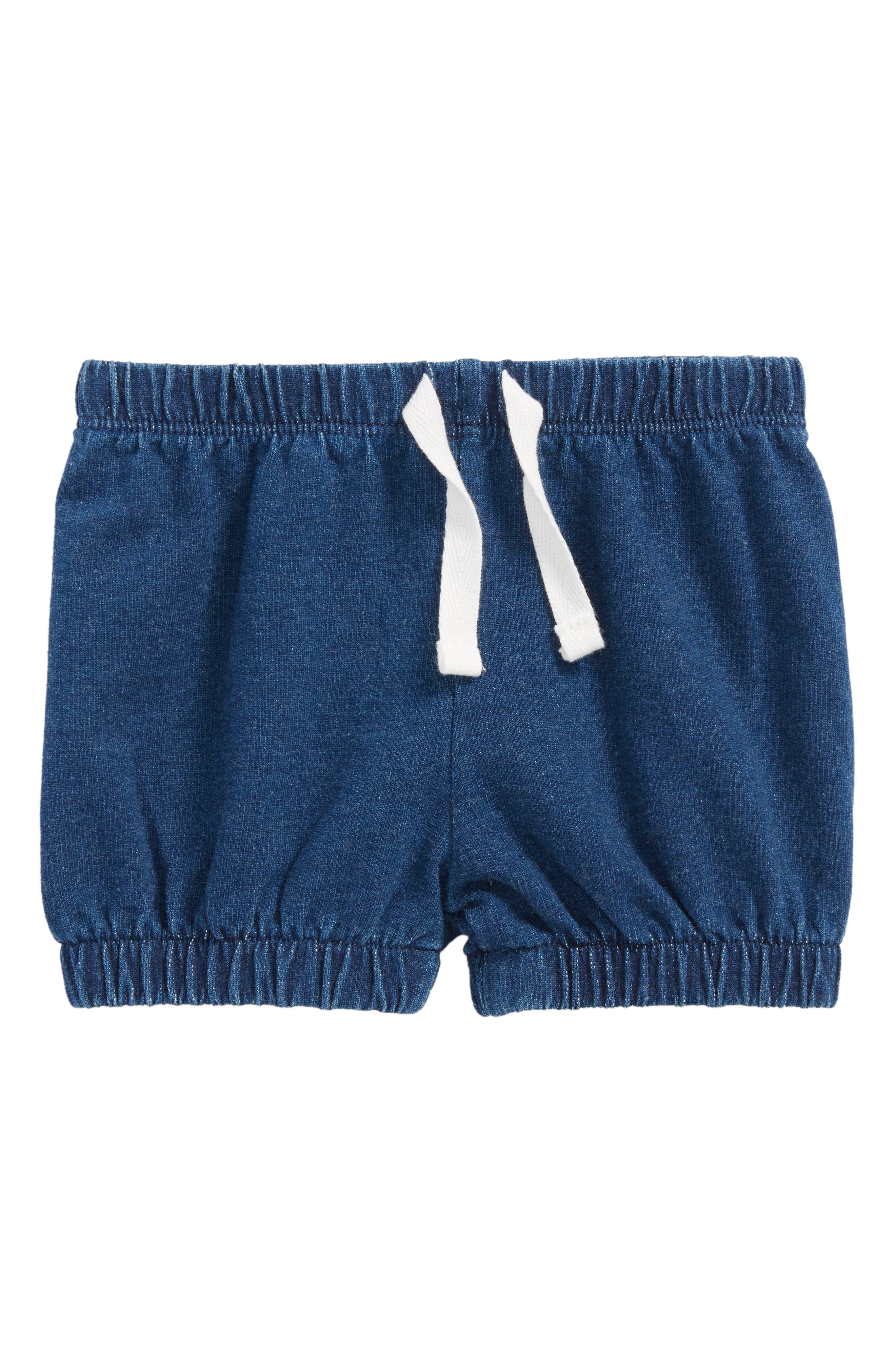 Bubble Shorts,                         Main,                         color, Blue Denim