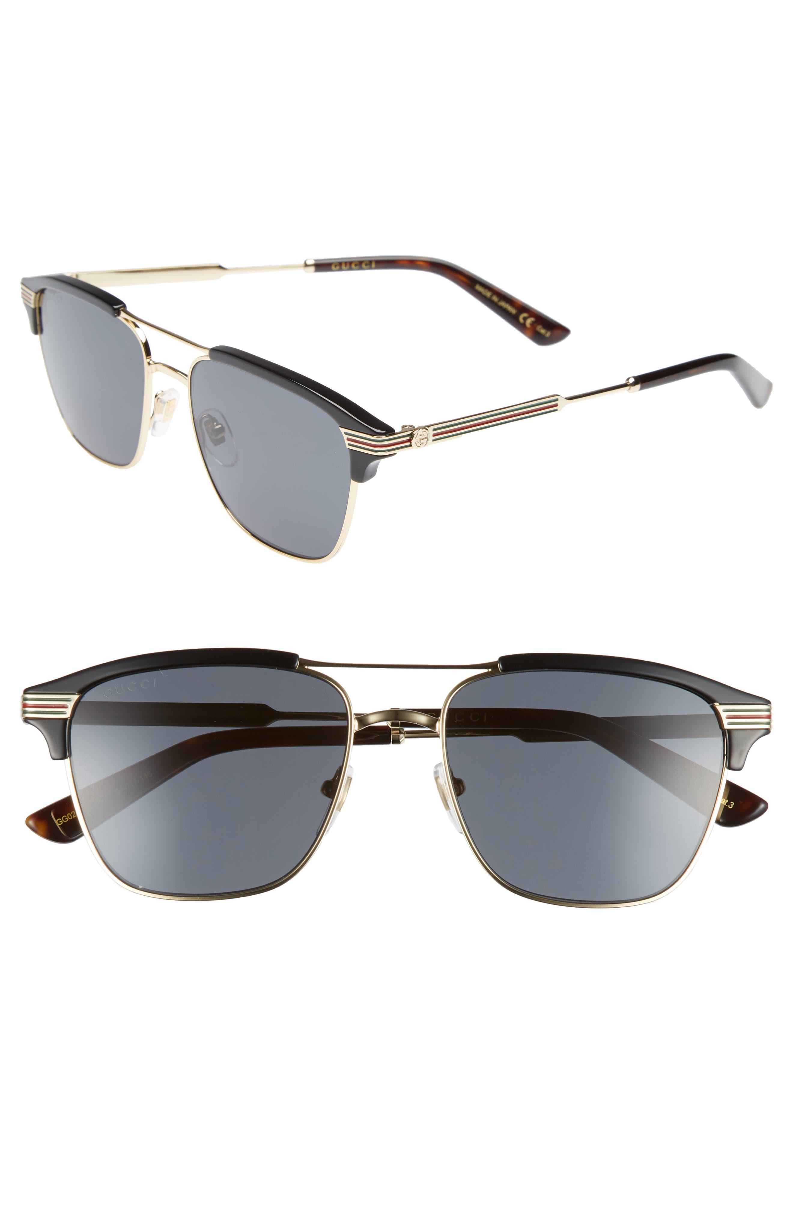f47109ea455 Gucci Retro Square Aviator Sunglasses