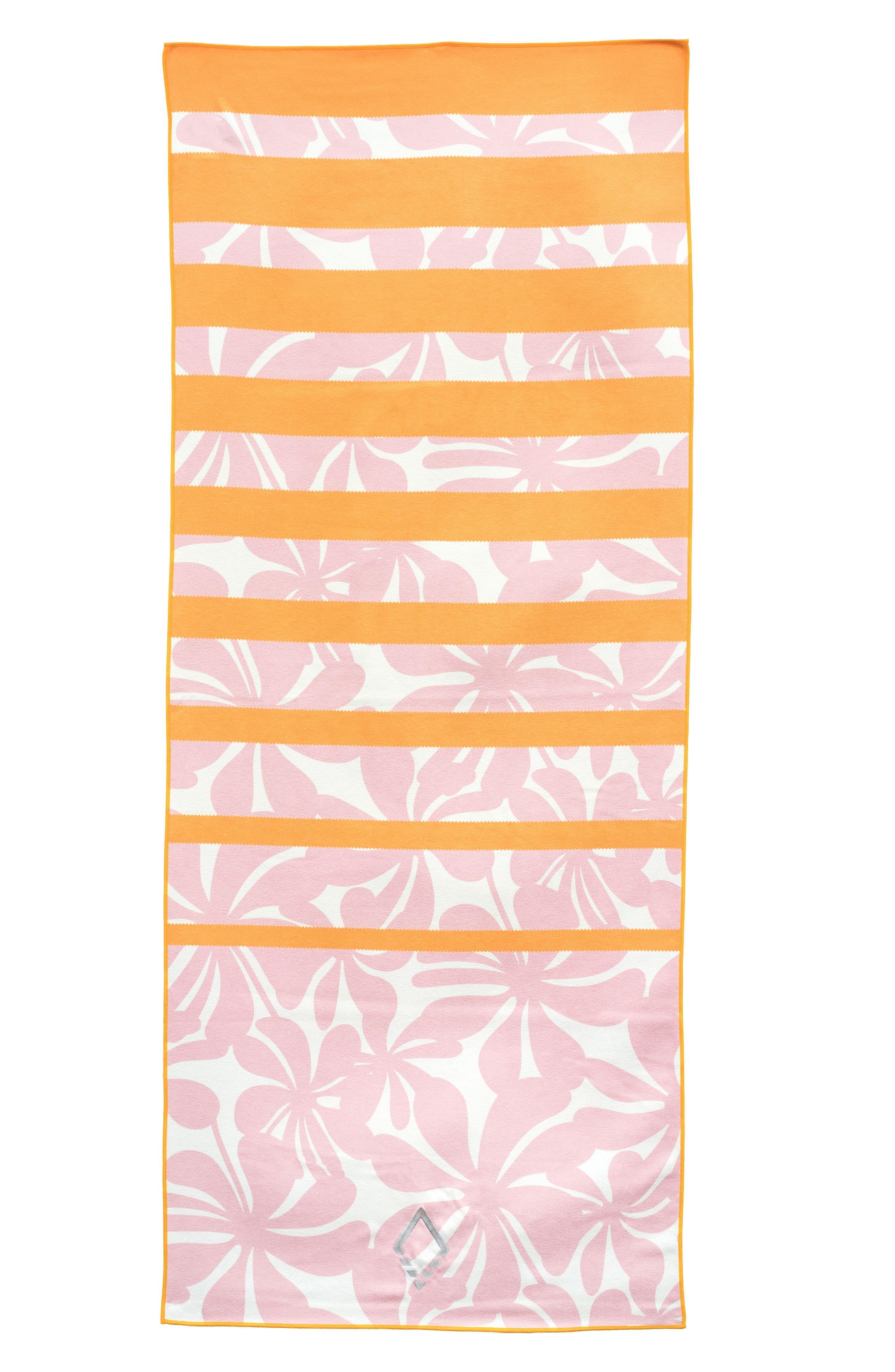 Hula Yoga Towel,                         Main,                         color, Pink