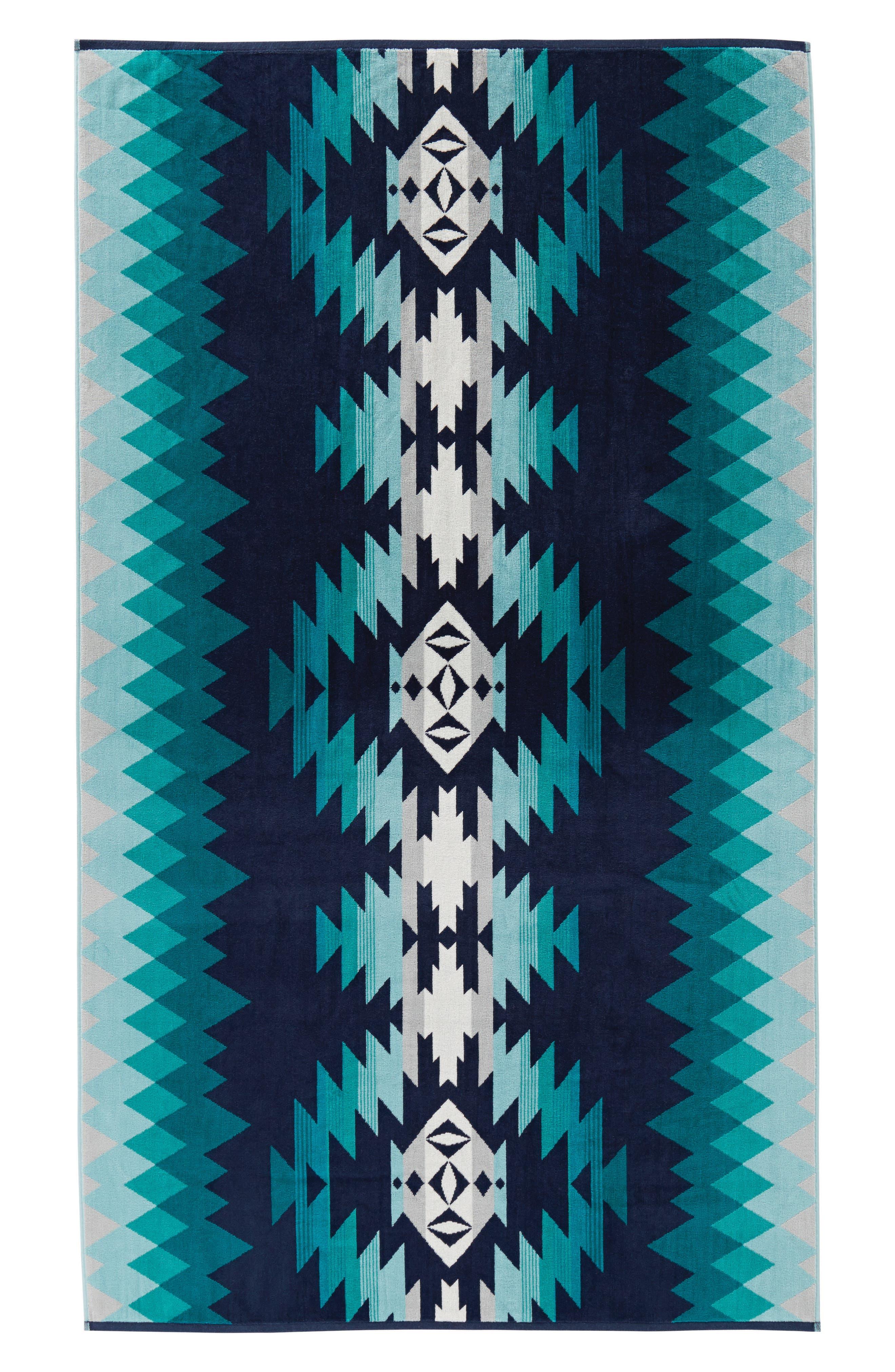 Papago Park Spa Towel,                             Main thumbnail 1, color,                             Blue Multi