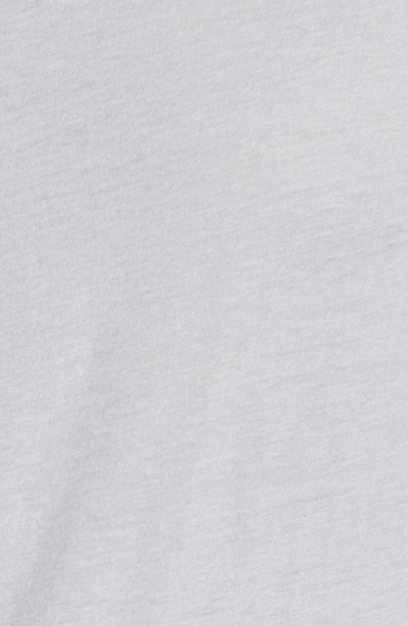 'Clear Jersey' Mélange V-Neck T-Shirt,                             Alternate thumbnail 5, color,                             Blue