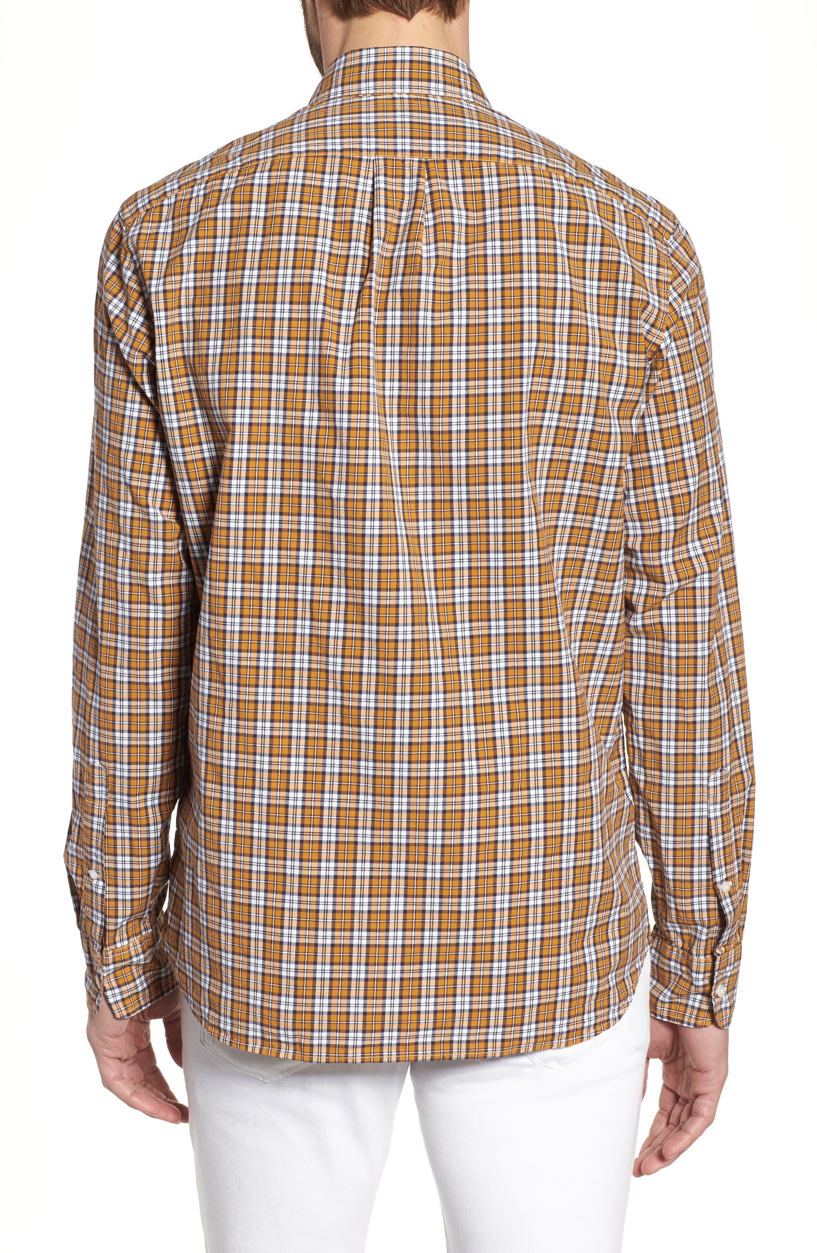 J.Crew Slim Fit Stretch Secret Wash Plaid Sport Shirt,                             Alternate thumbnail 2, color,                             Warm Cider