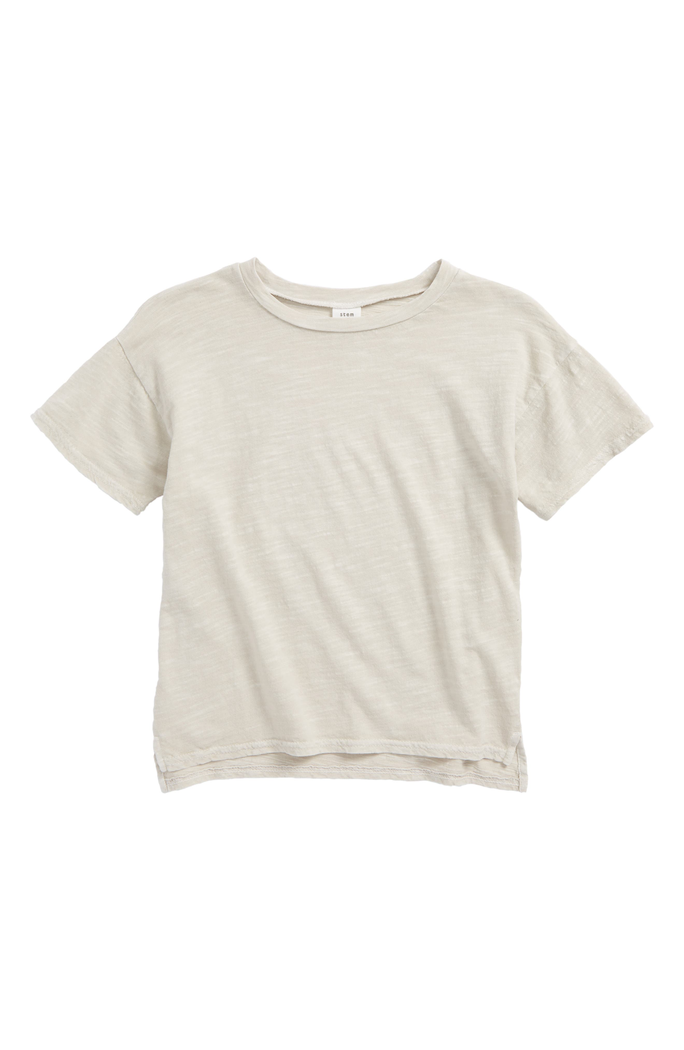 Short Sleeve Cotton T-Shirt,                             Main thumbnail 1, color,                             Grey Lunar