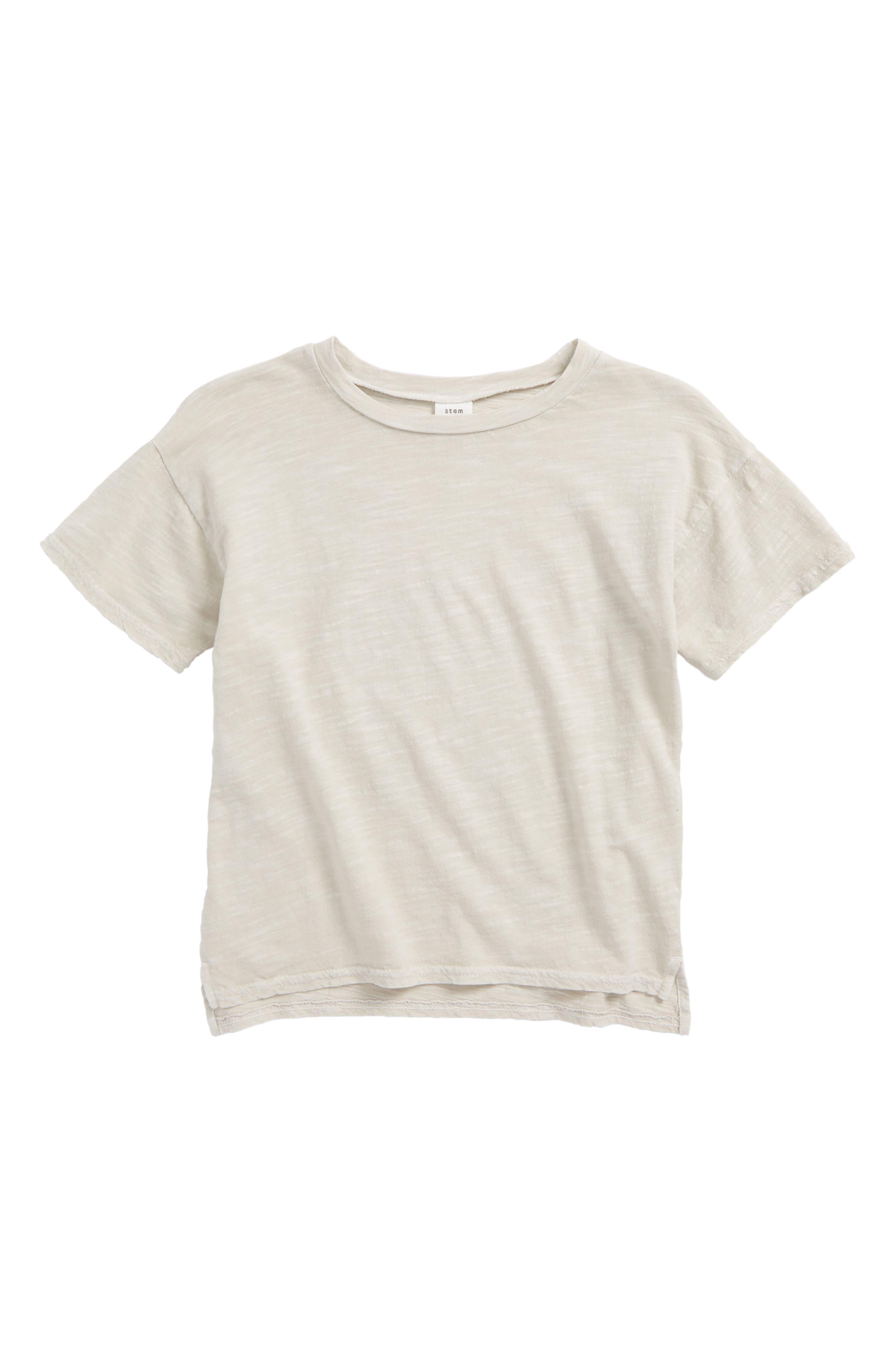 Short Sleeve Cotton T-Shirt,                         Main,                         color, Grey Lunar