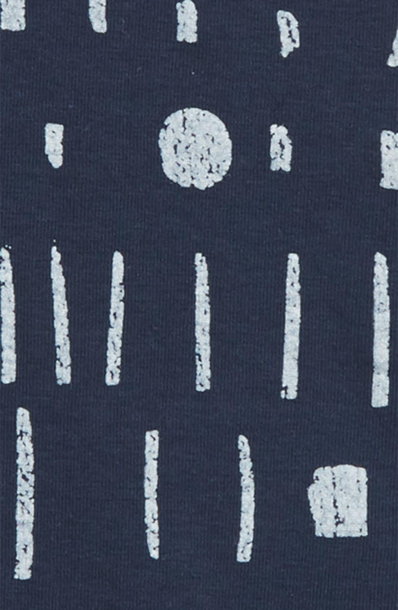 Print Dress,                             Alternate thumbnail 2, color,                             Navy