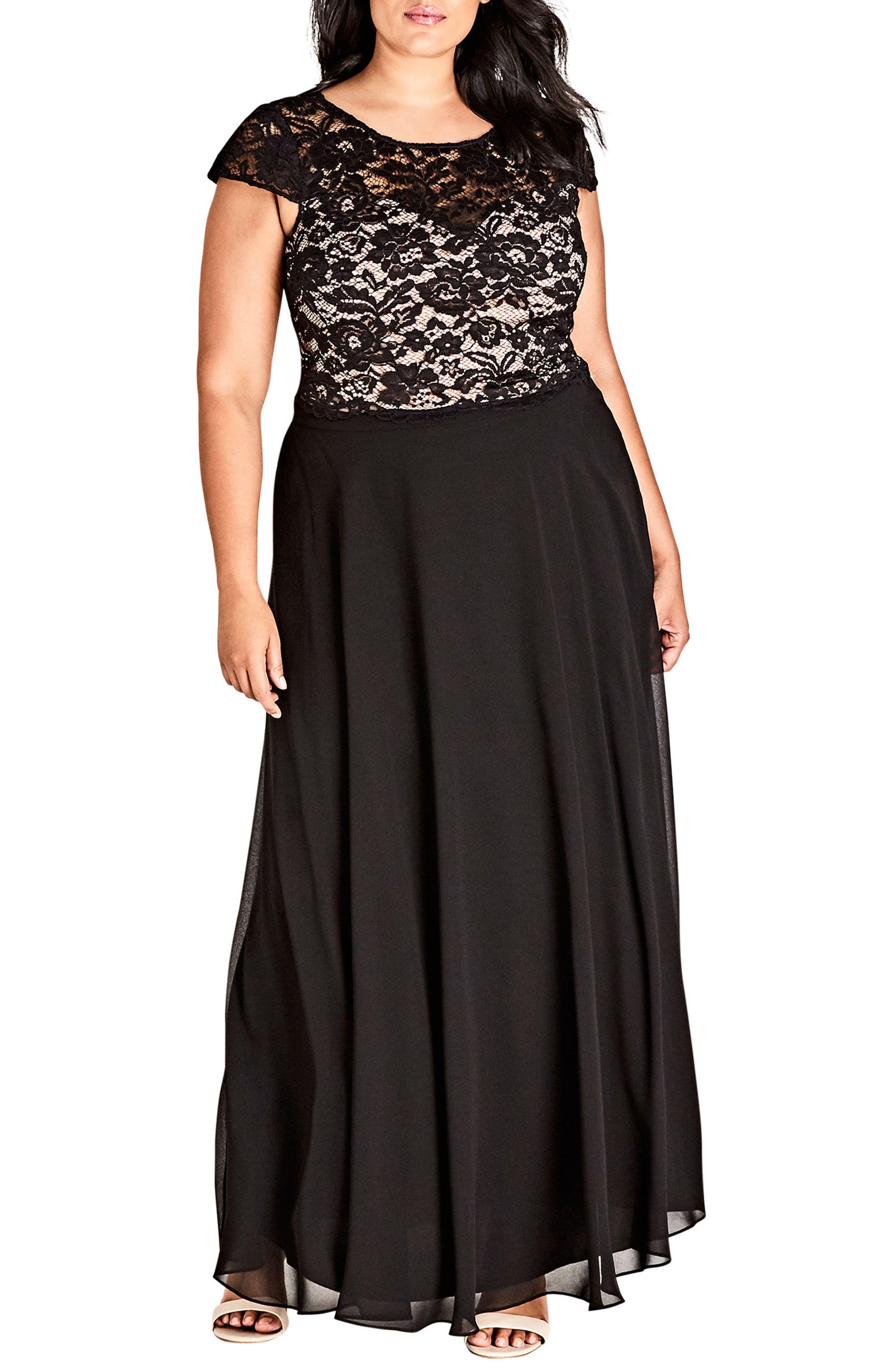 Elegance Maxi Dress Set,                         Main,                         color, Black