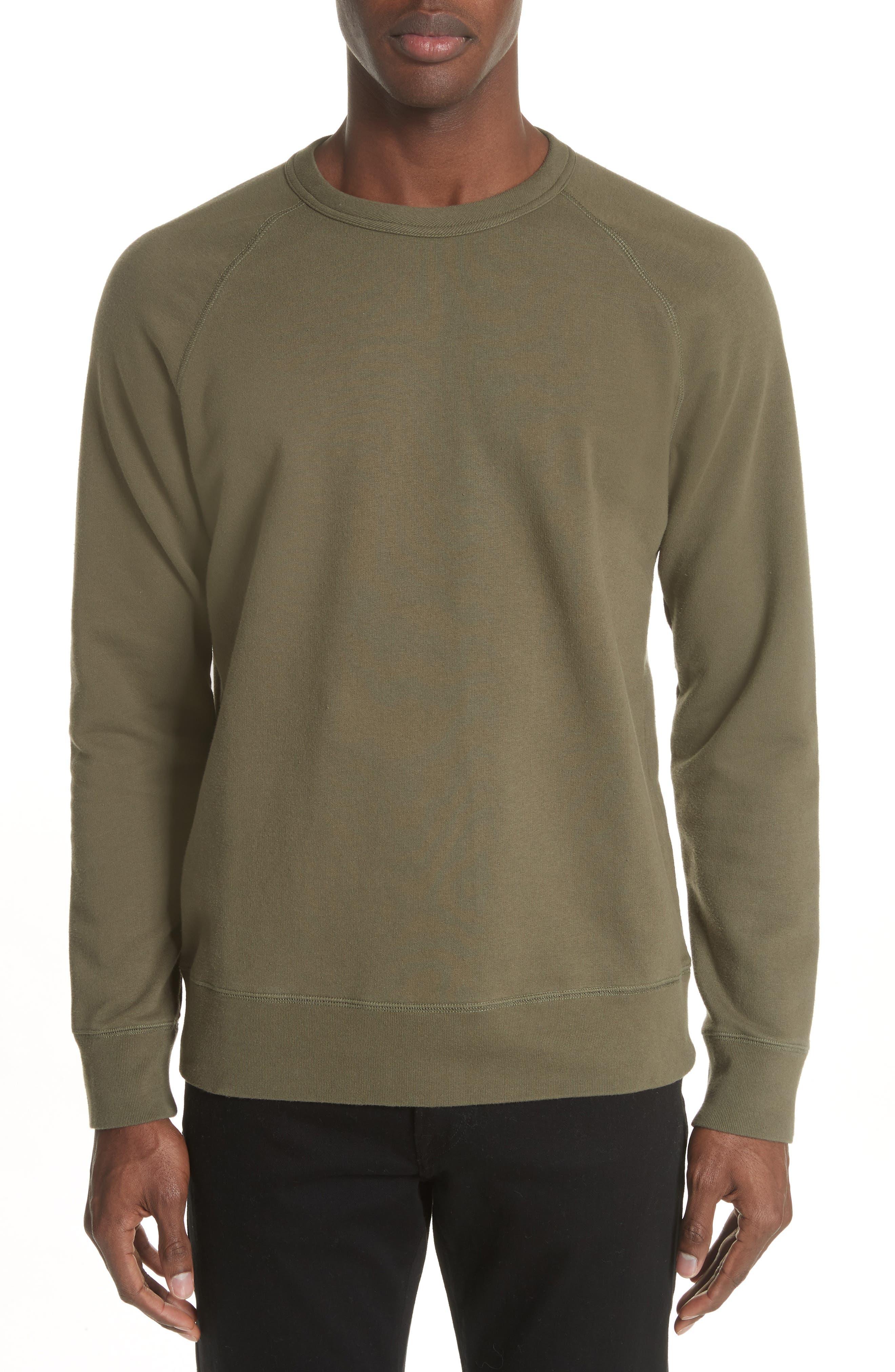 Core Crewneck Sweatshirt,                             Main thumbnail 1, color,                             Olive