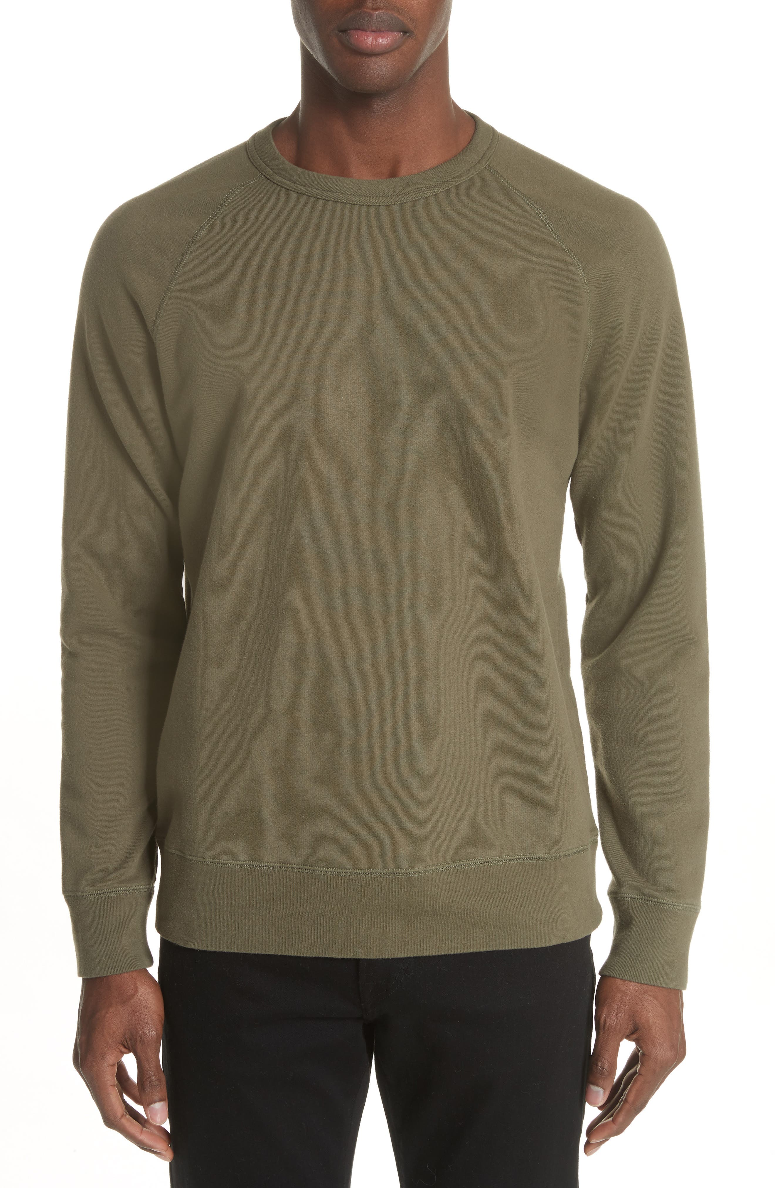 Core Crewneck Sweatshirt,                         Main,                         color, Olive