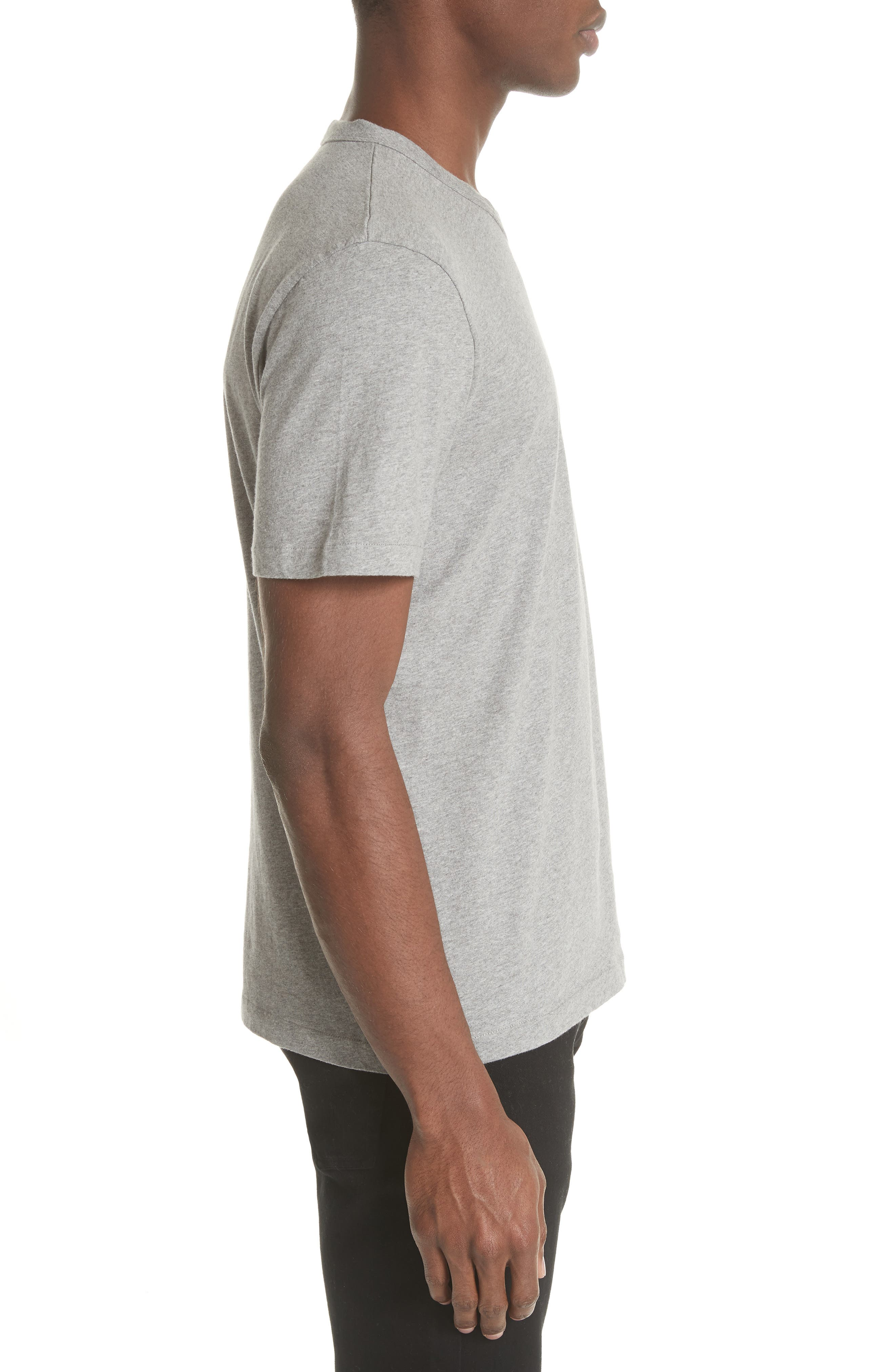 Perfect T-Shirt,                             Alternate thumbnail 3, color,                             Grey Melange
