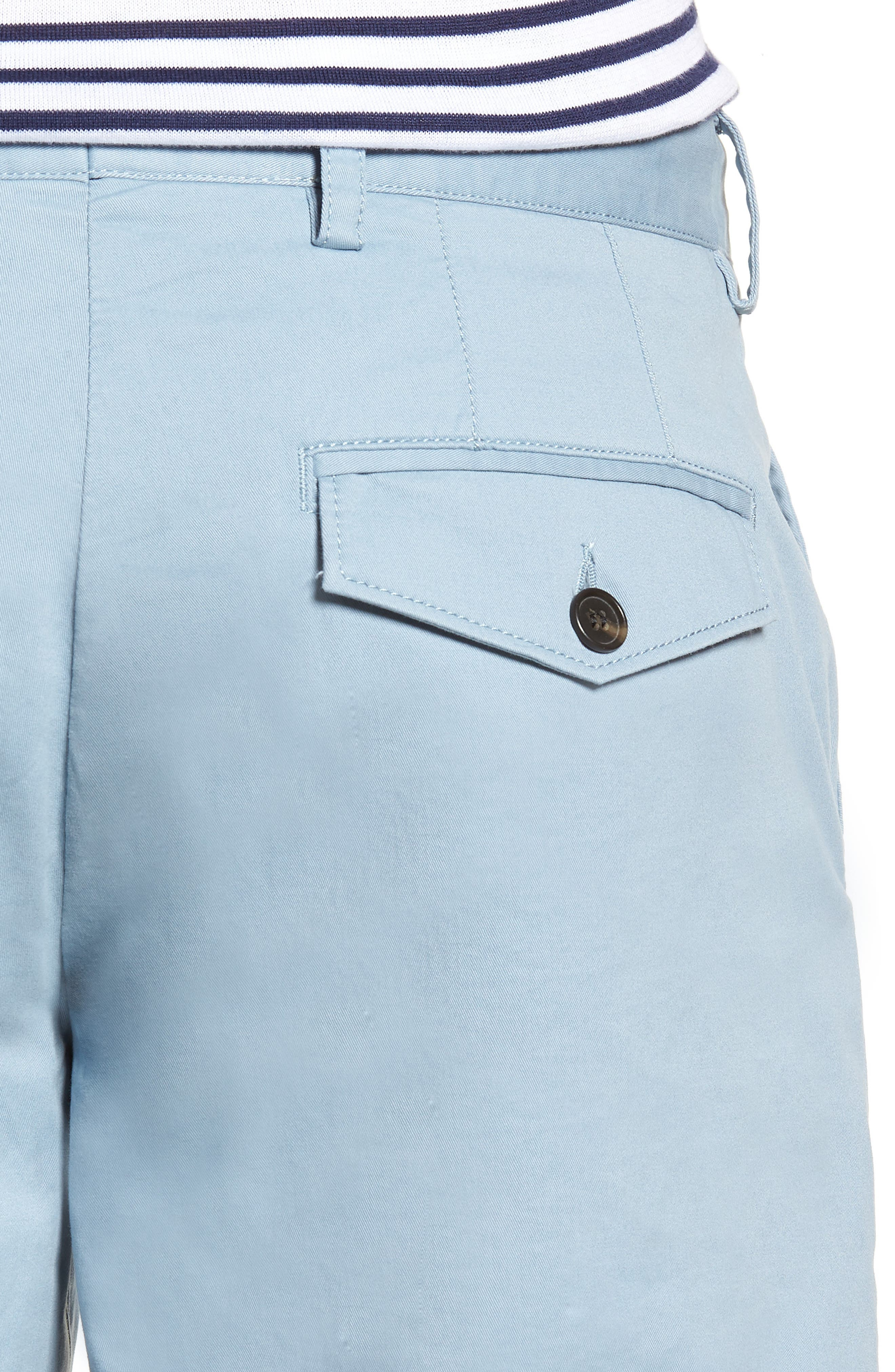 Machine Gun Stretch Cotton Shorts,                             Alternate thumbnail 4, color,                             Ashley Blue