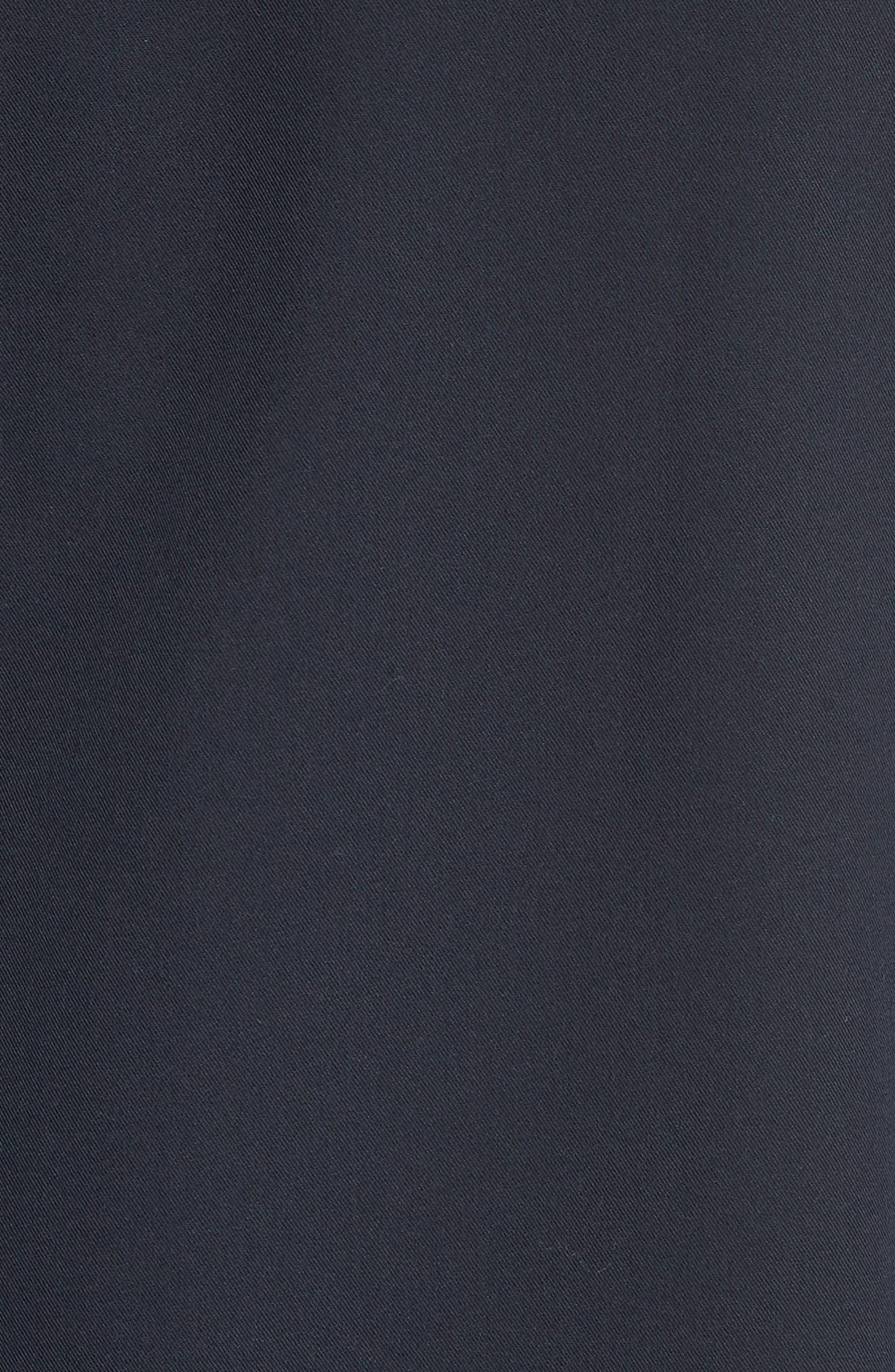 Gabardine Zip Shirt Jacket,                             Alternate thumbnail 5, color,                             Navy
