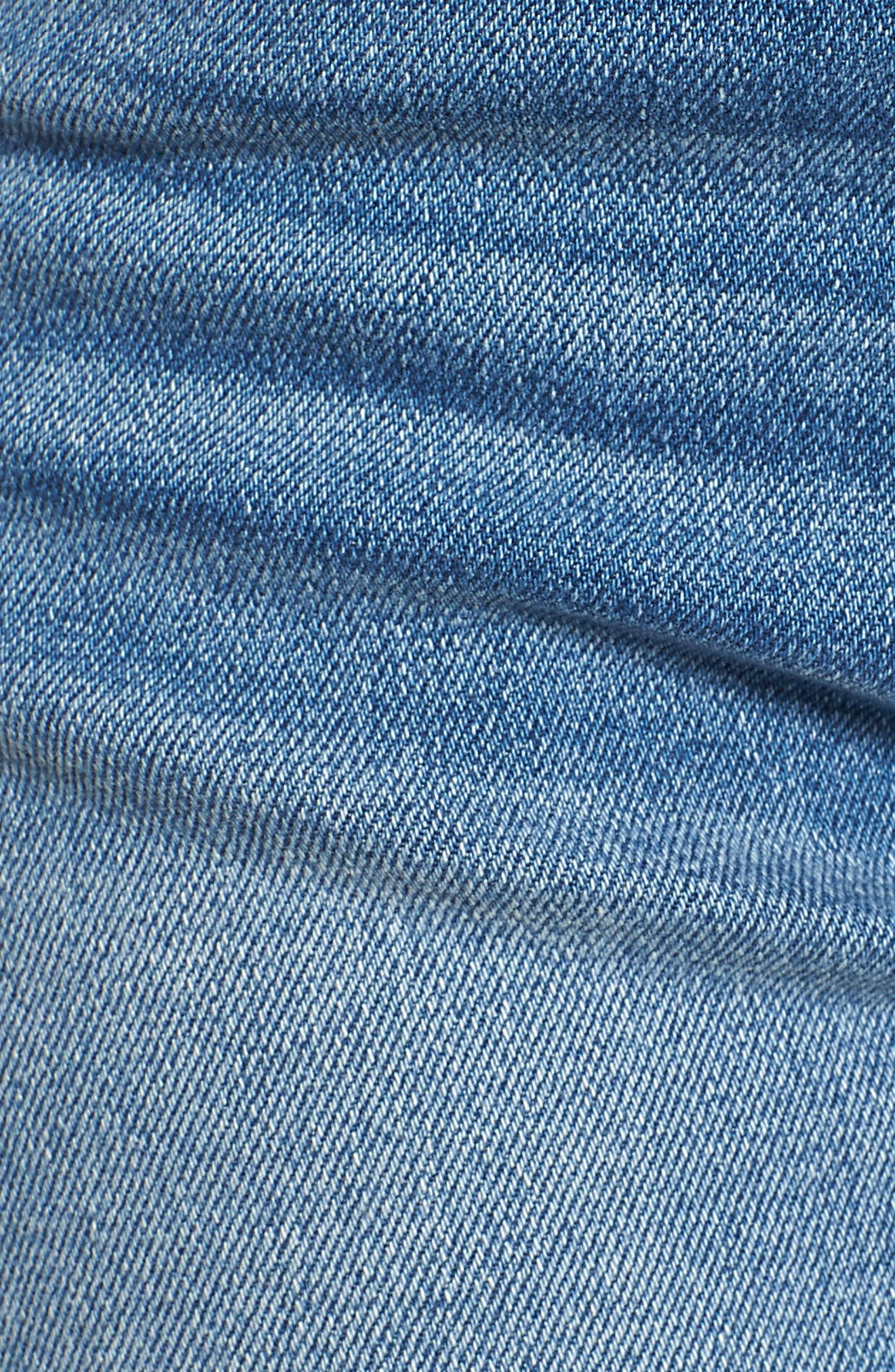 Valeri Cuff Denim Shorts,                             Alternate thumbnail 5, color,                             Proxy