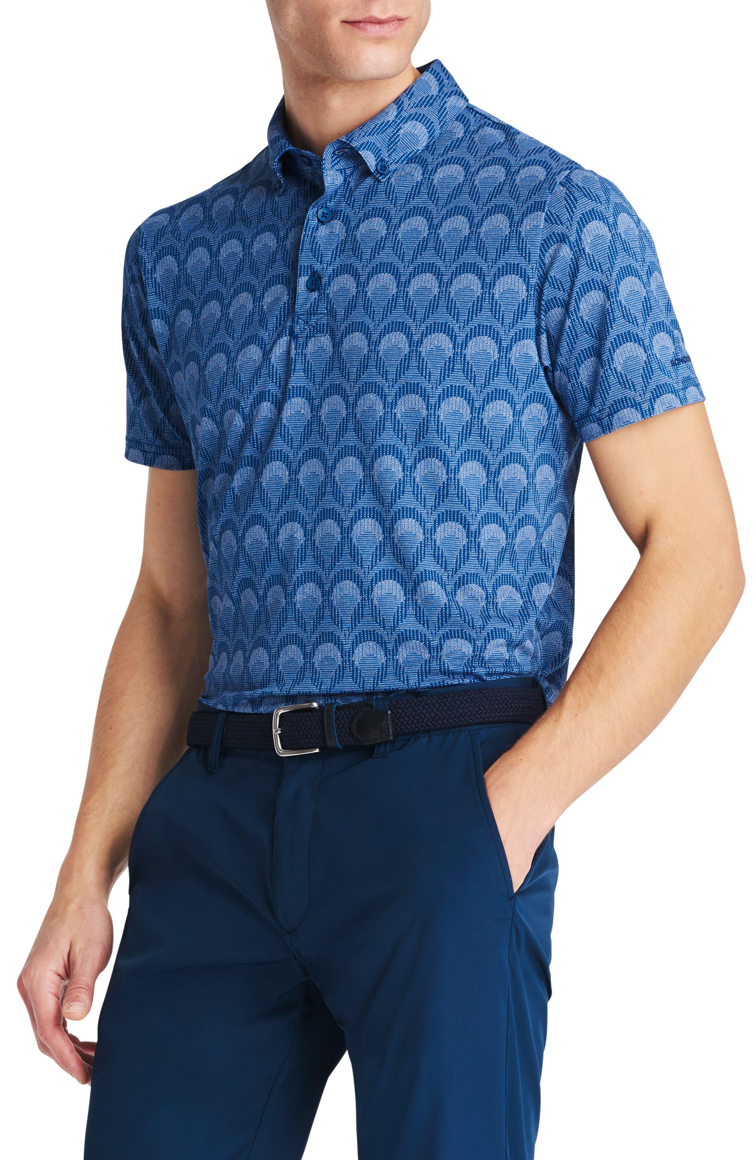 Flatiron Slim Fit Print Golf Polo,                         Main,                         color, Buenva Vista