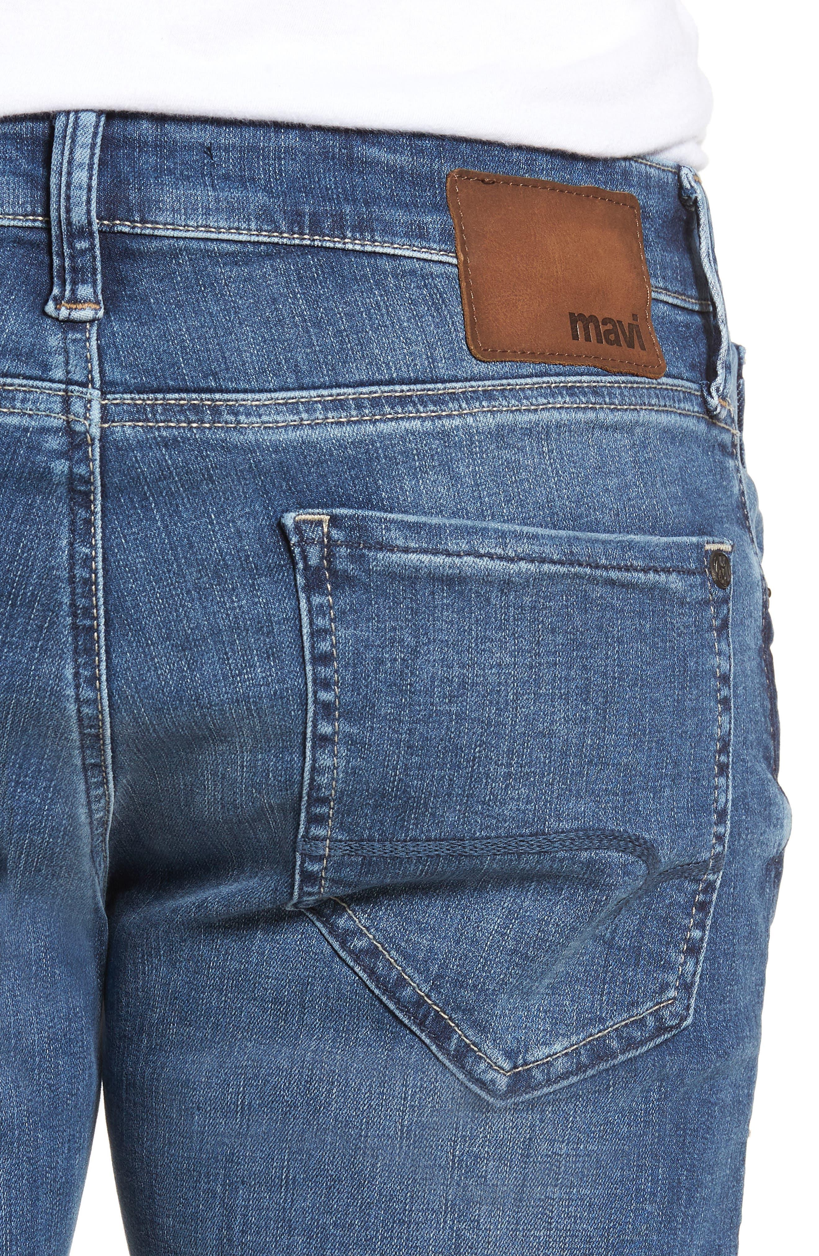 Zach Straight Leg Jeans,                             Alternate thumbnail 4, color,                             Indigo Cashmere