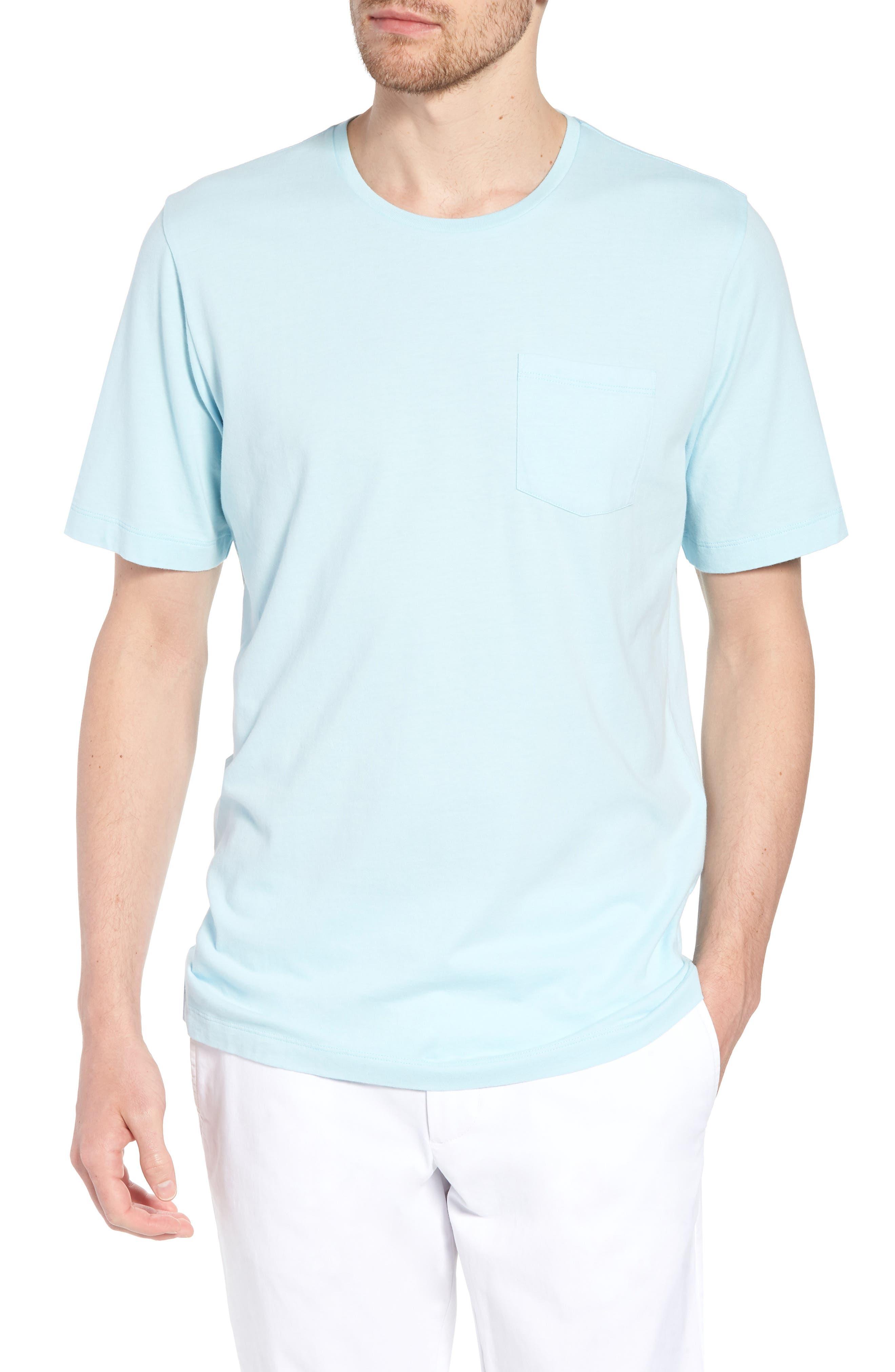 Brushed Pima Cotton T-Shirt,                         Main,                         color, Blue Orydalis