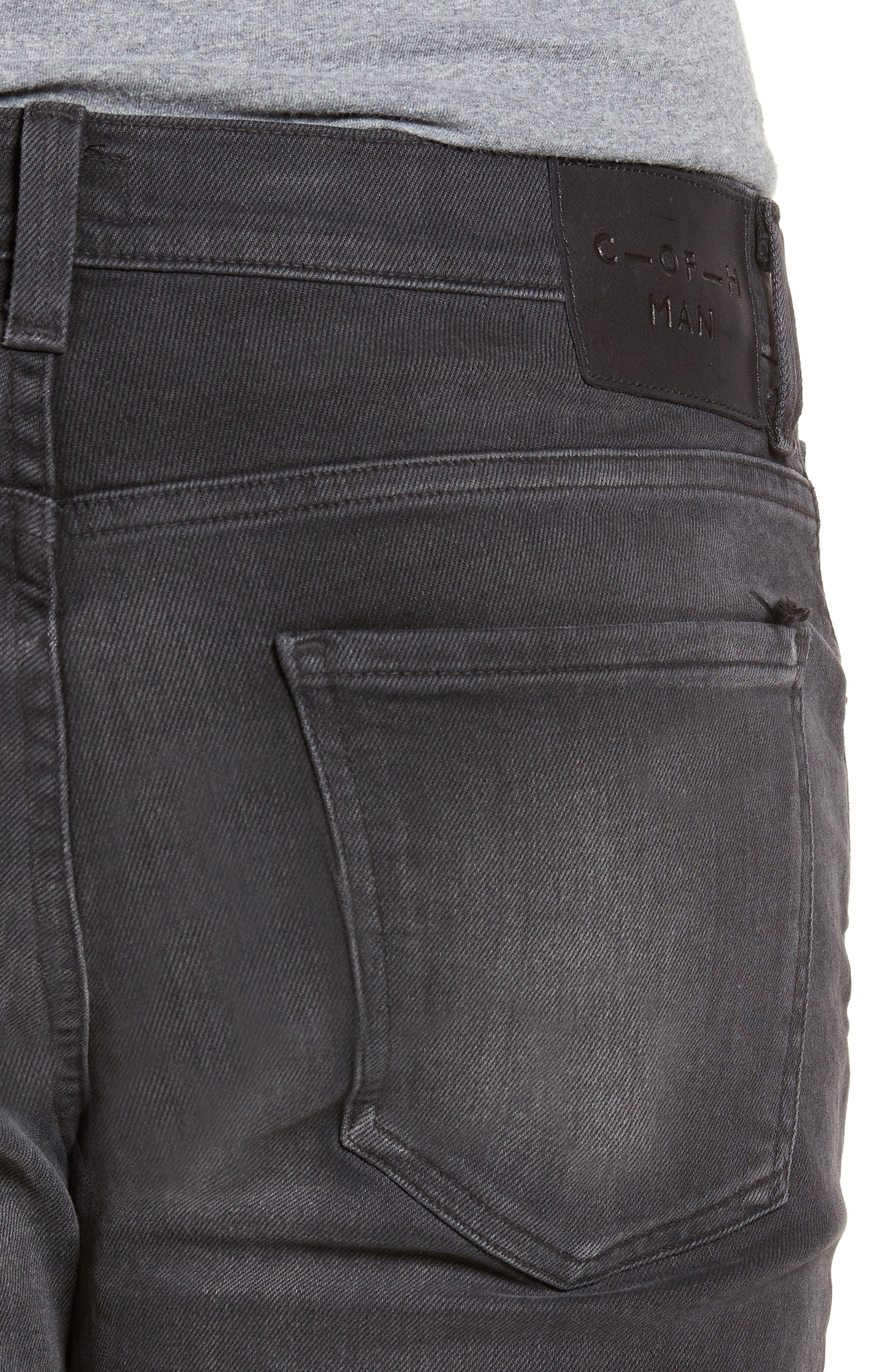 Side Straight Leg Jeans,                             Alternate thumbnail 4, color,                             Lyric
