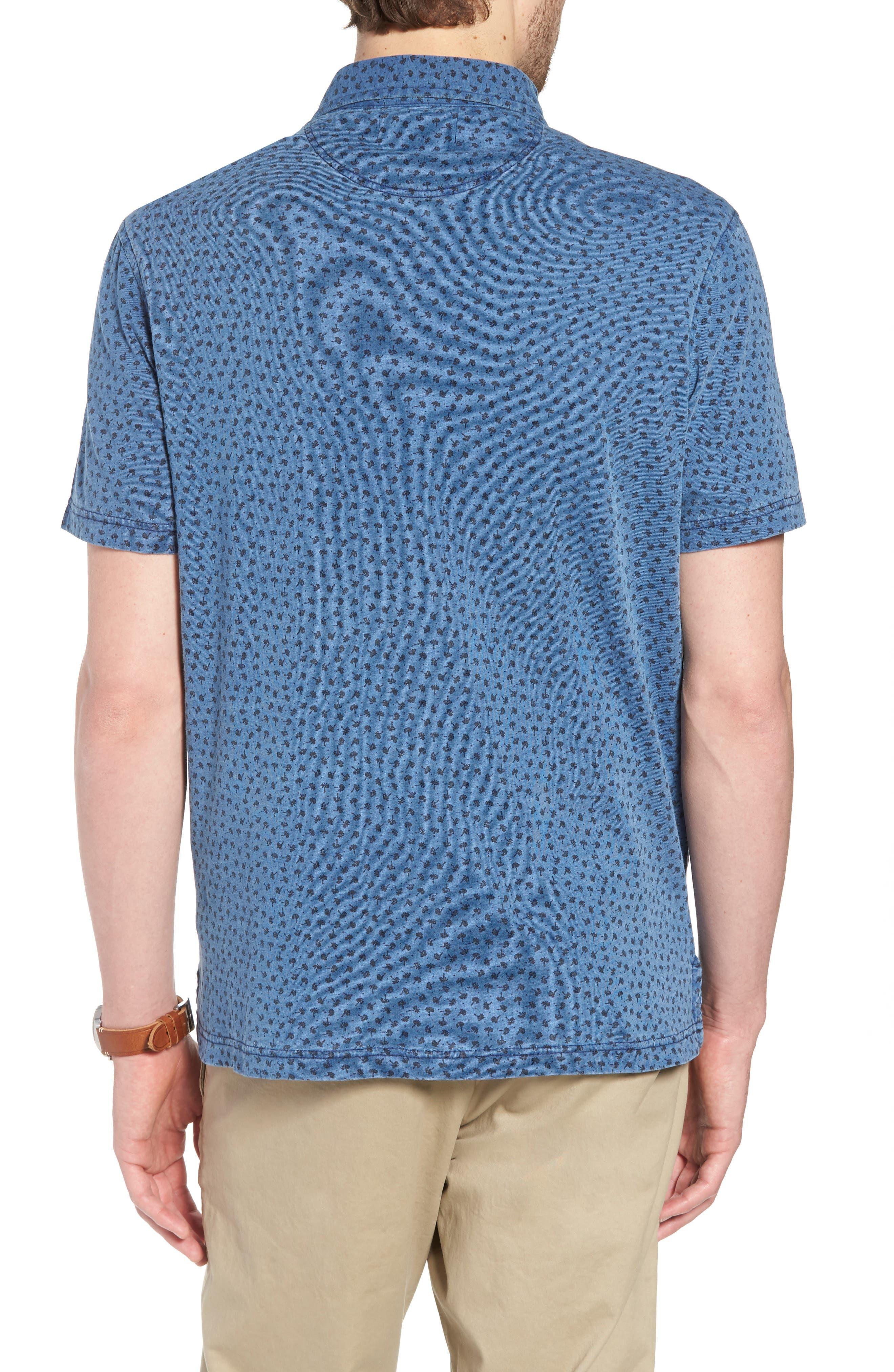 Print Cotton Polo,                             Alternate thumbnail 2, color,                             Blue Indigo Print
