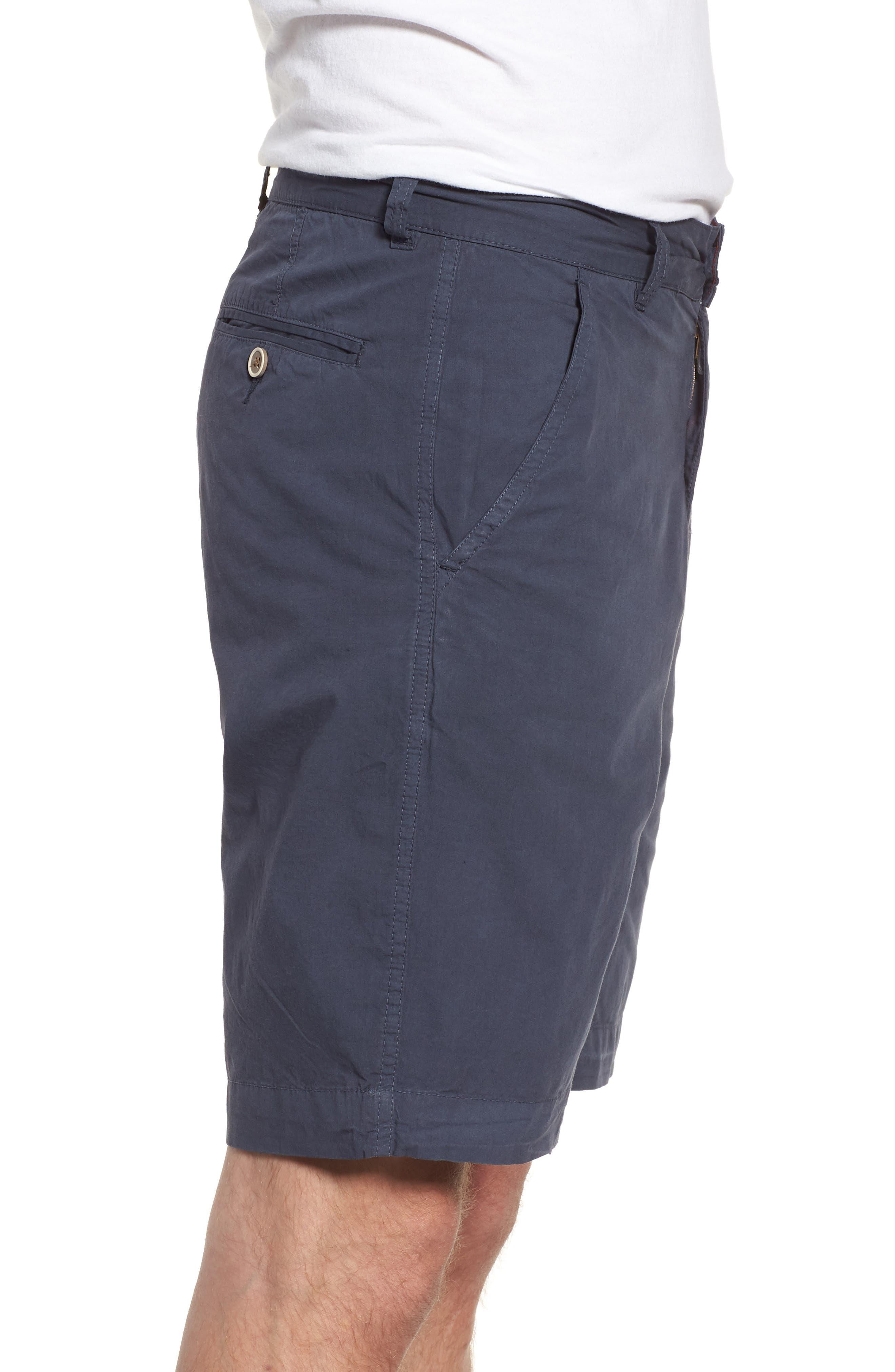 Stretch Poplin Shorts,                             Alternate thumbnail 3, color,                             Navy