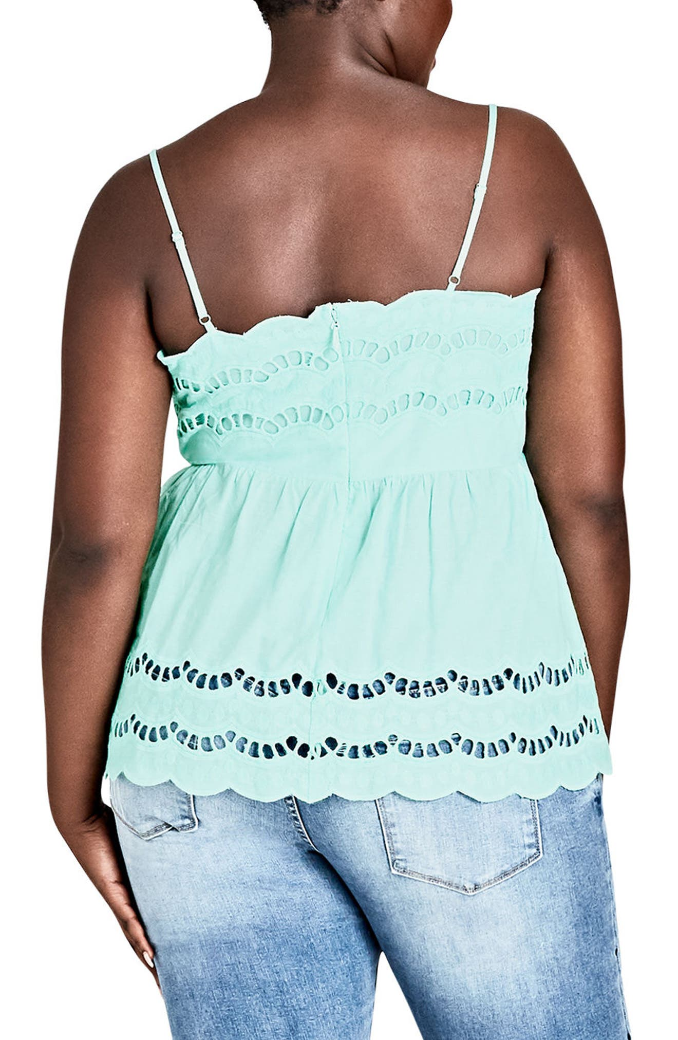 Flirt Peplum Top,                             Alternate thumbnail 2, color,                             Mint