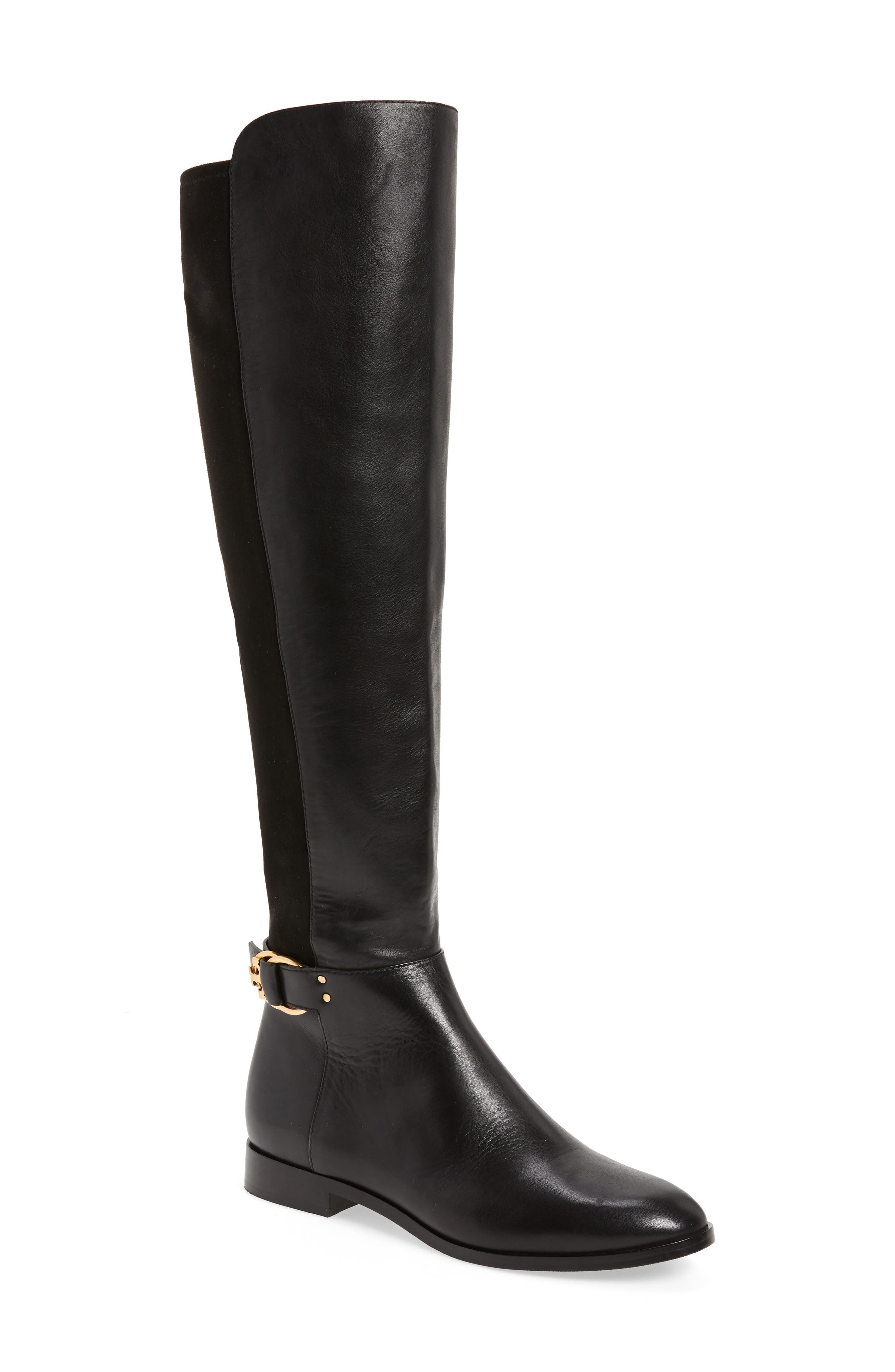 Marsden Over the Knee Boot,                             Main thumbnail 1, color,                             Perfect Black