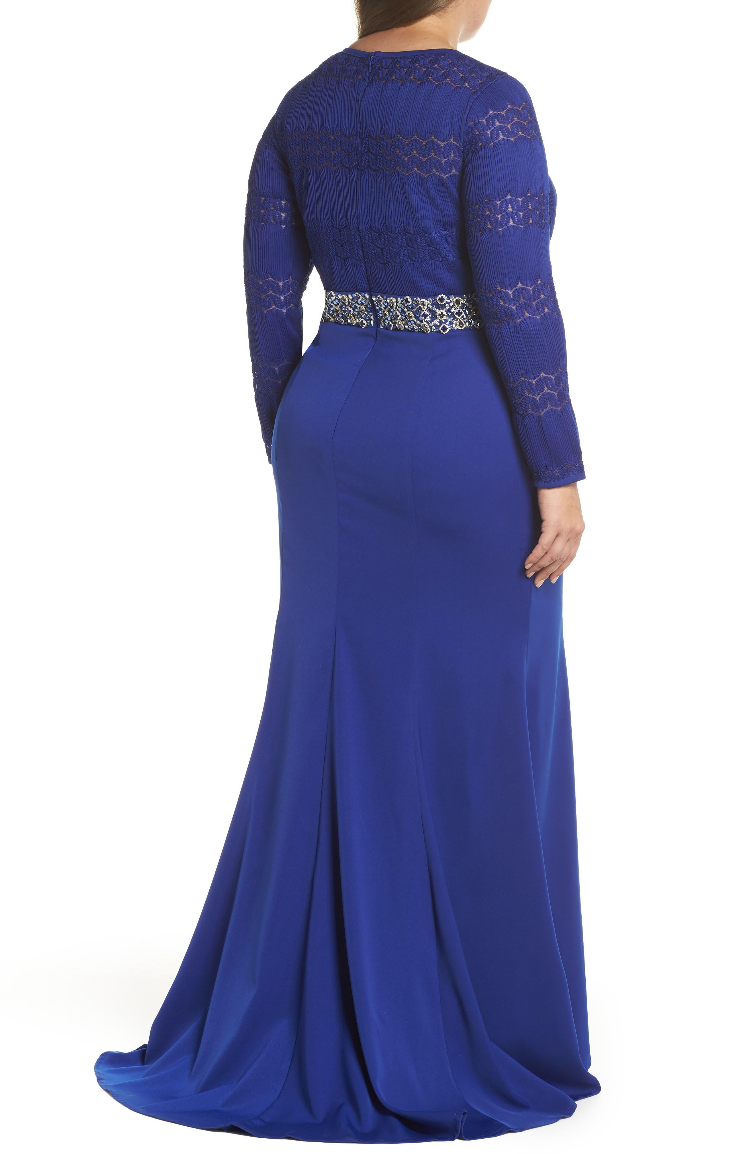 Embellished Gown,                             Alternate thumbnail 2, color,                             Royal