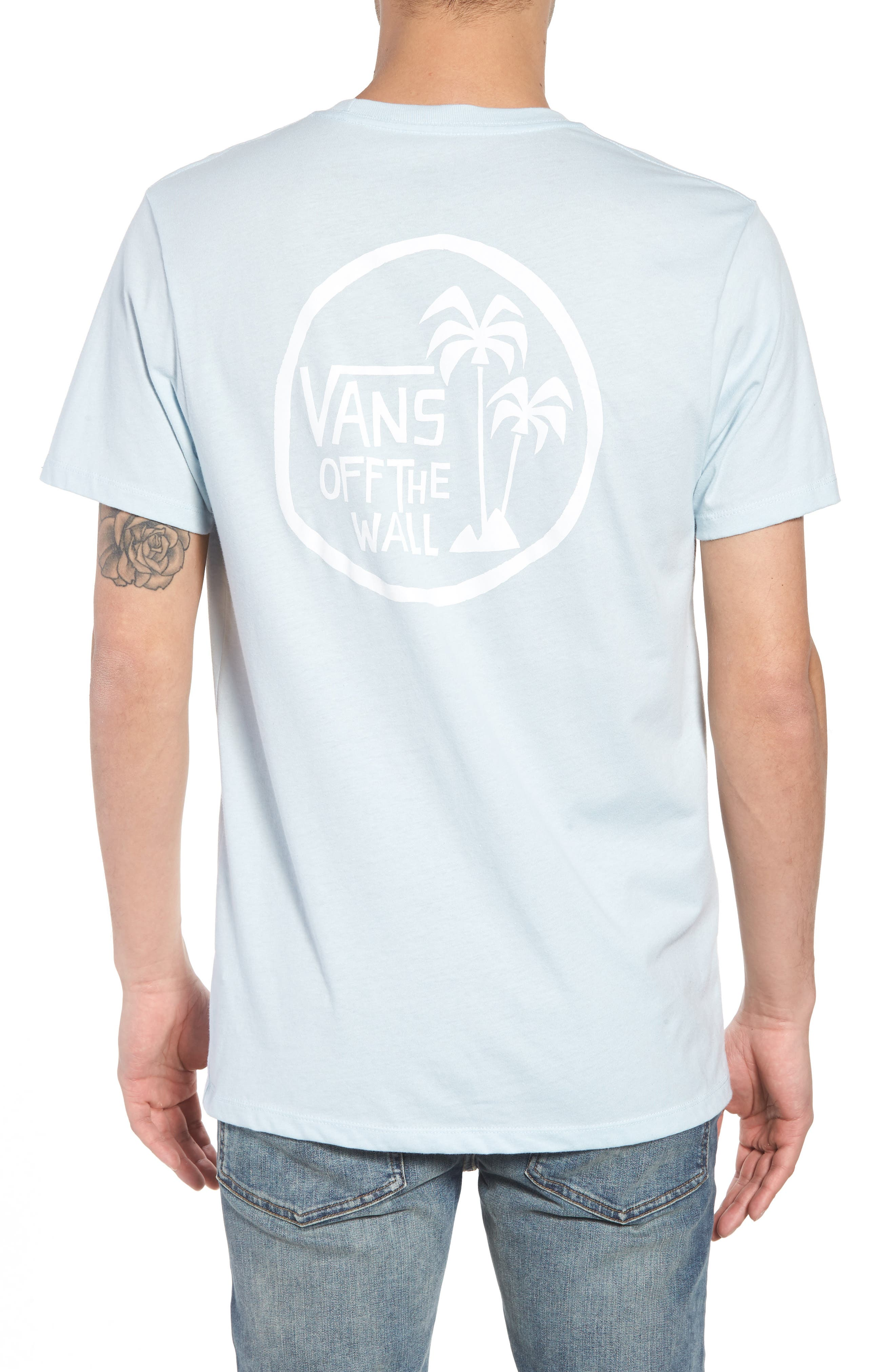 Yusuke Palms Graphic T-Shirt,                             Alternate thumbnail 2, color,                             Baby Blue