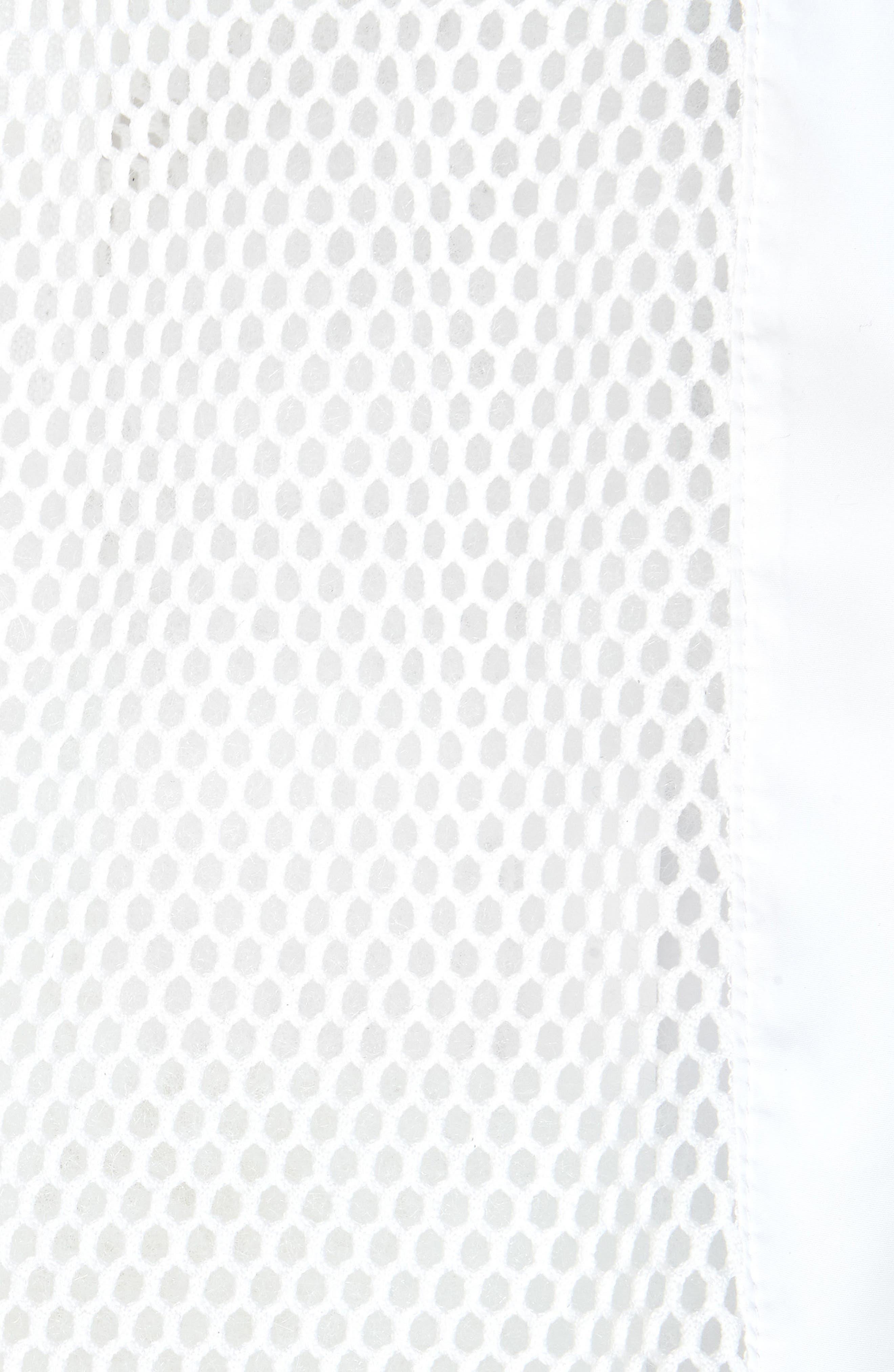 Keya Mesh Bomber Jacket,                             Alternate thumbnail 3, color,                             White