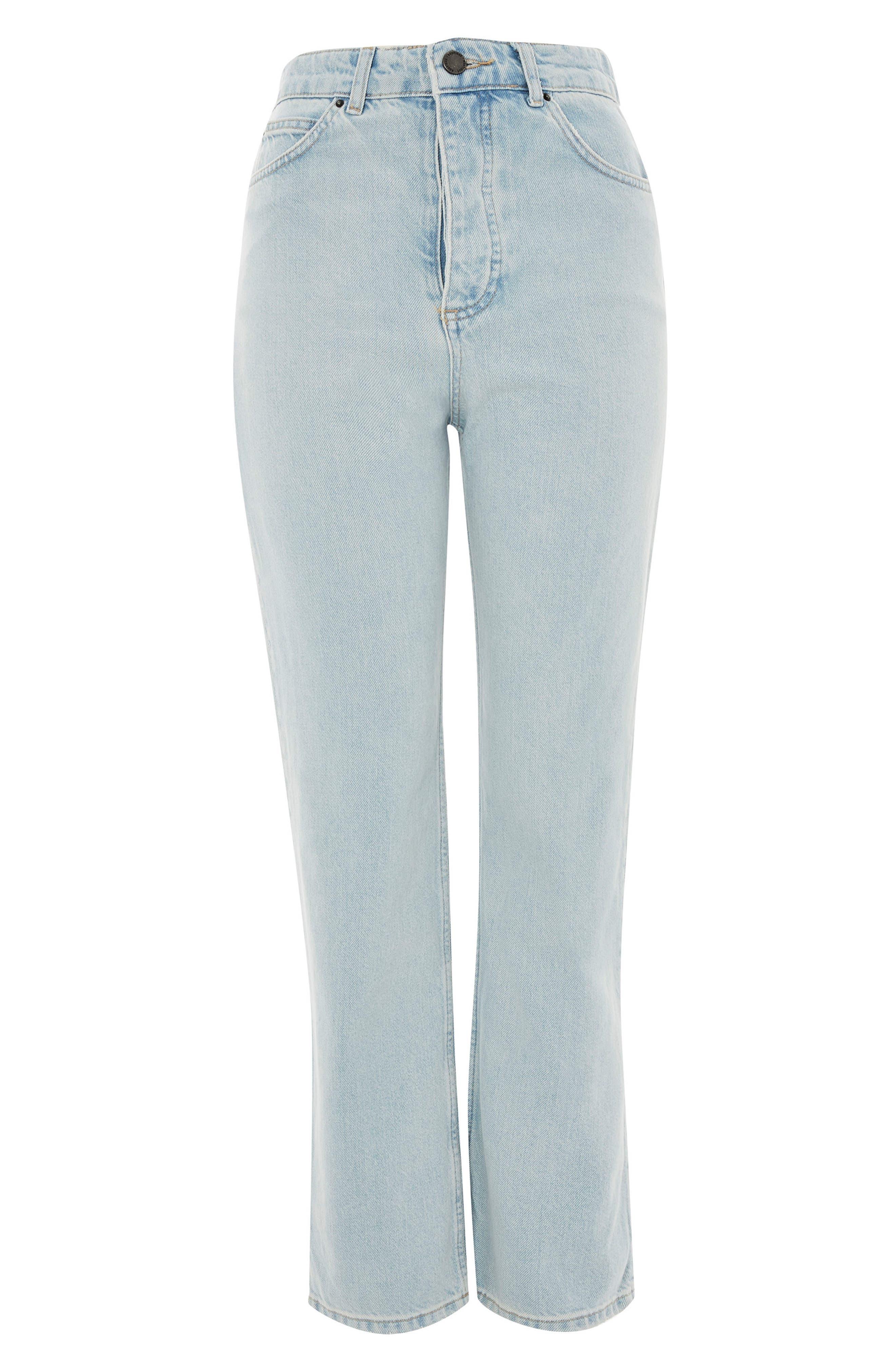Boutique Bleach Denim Jeans,                             Main thumbnail 1, color,                             Light Denim
