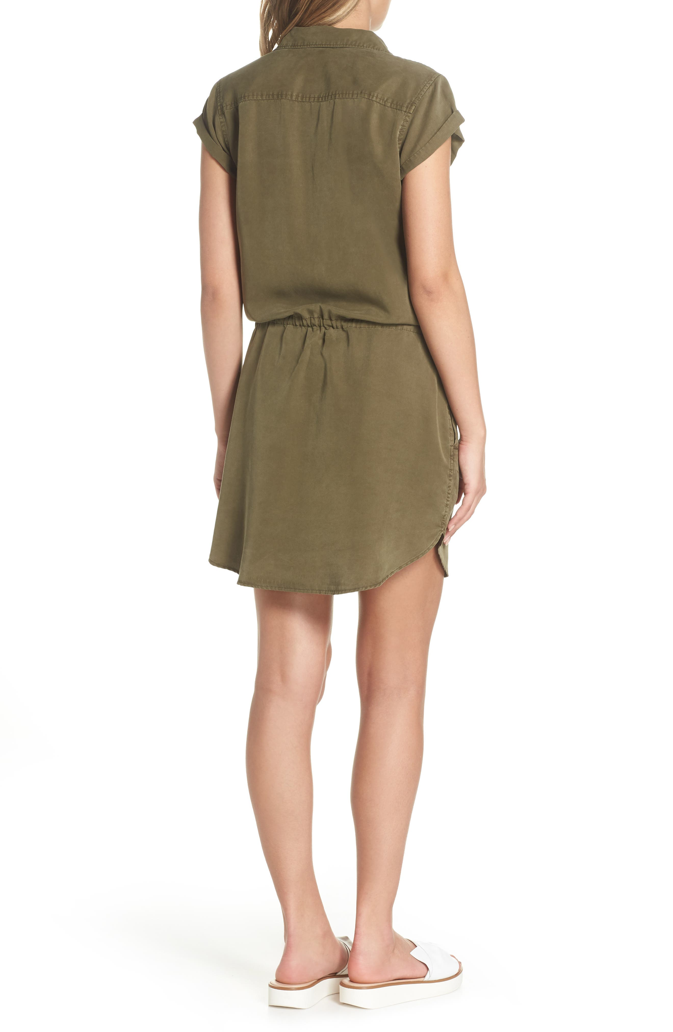 Mila Shirtdress,                             Alternate thumbnail 2, color,                             Desert Olive