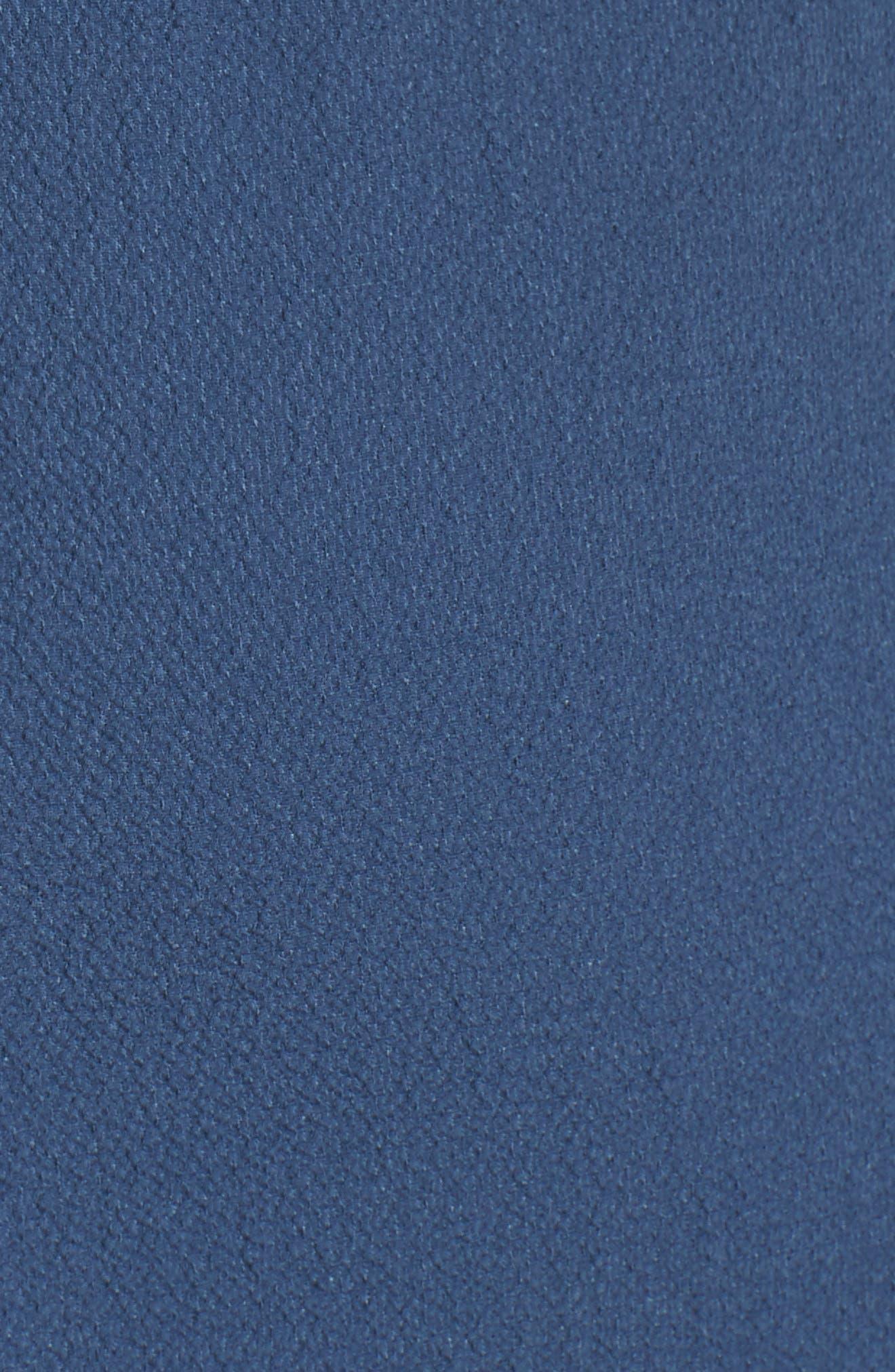 Wrap Midi Dress,                             Alternate thumbnail 5, color,                             Dusty Teal