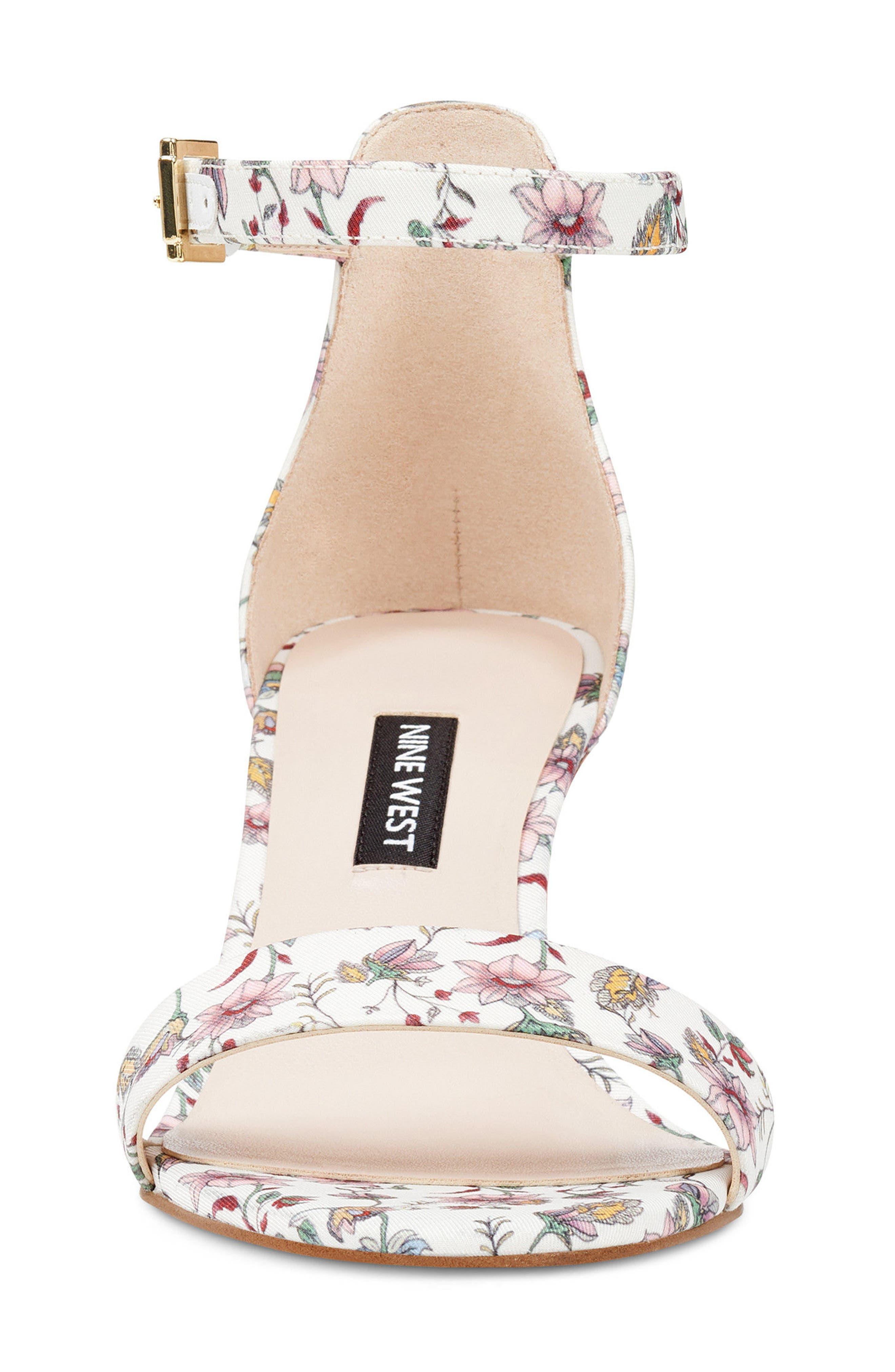 Pruce Ankle Strap Sandal,                             Alternate thumbnail 4, color,                             White Multi