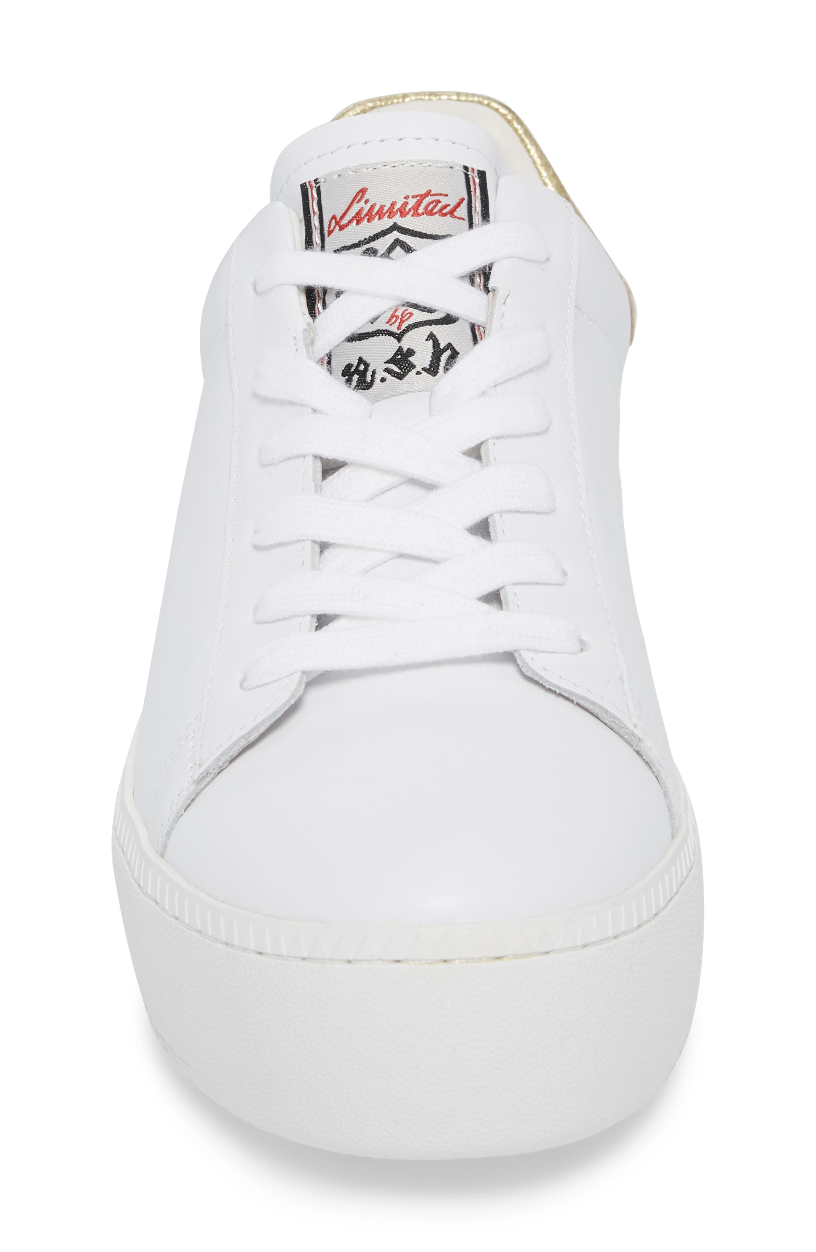 Cult Platform Sneaker,                             Alternate thumbnail 4, color,                             White/ Ariel