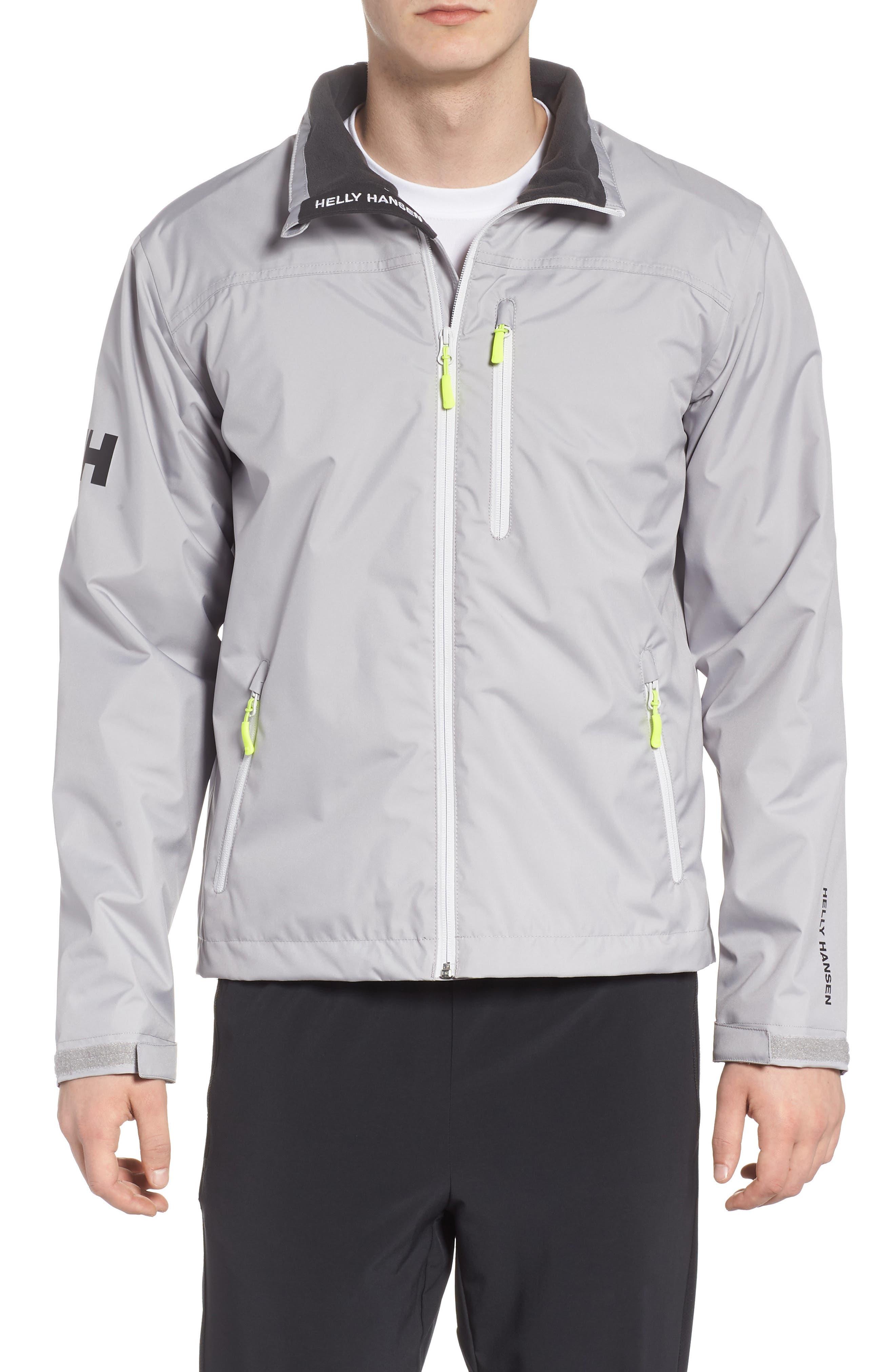 'Crew' Waterproof & Windproof Jacket,                         Main,                         color, Silver Grey