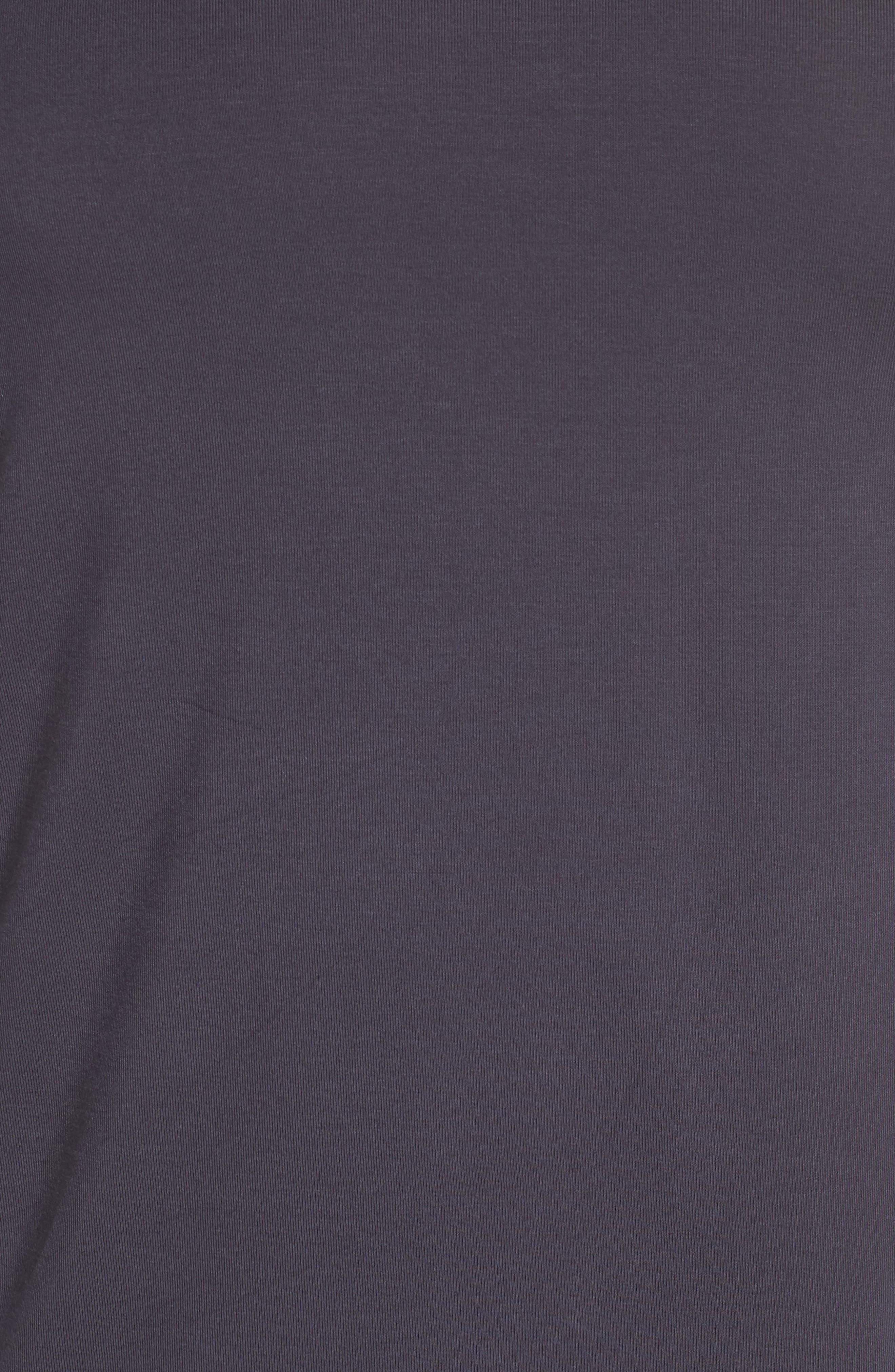 Back Stripe Tee,                             Alternate thumbnail 5, color,                             Charcoal Grey/ Navy