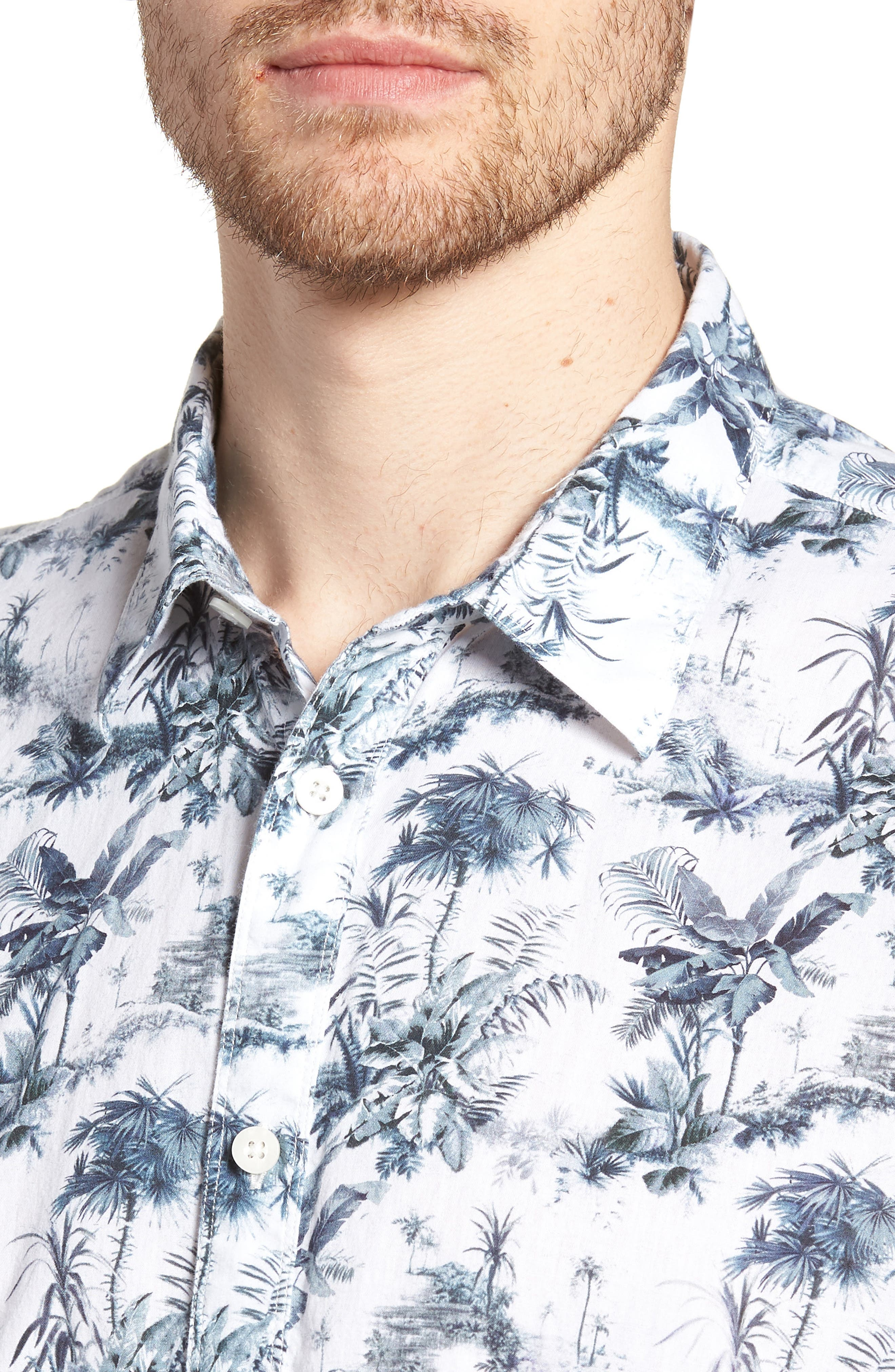 Waiki Regular Fit Short Sleeve Sport Shirt,                             Alternate thumbnail 2, color,                             White