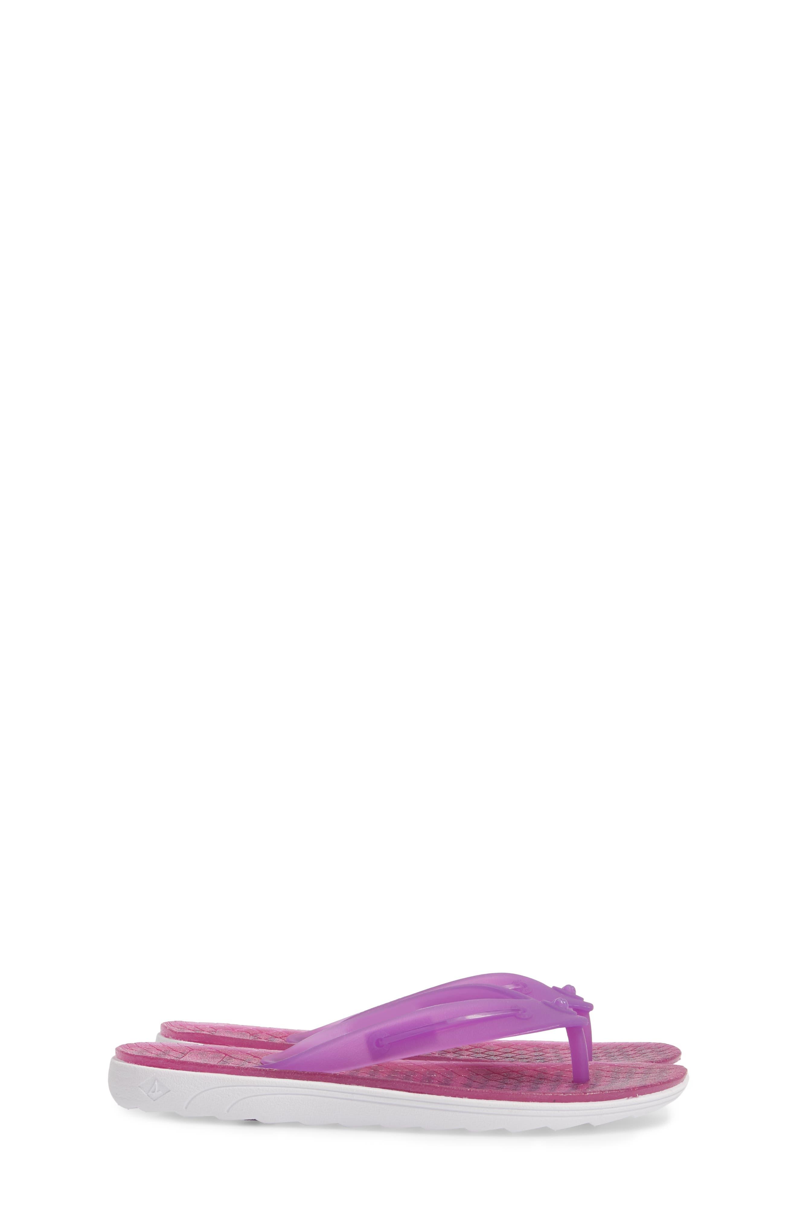 Jellyfish Emma Flip Flop,                             Alternate thumbnail 4, color,                             Berry