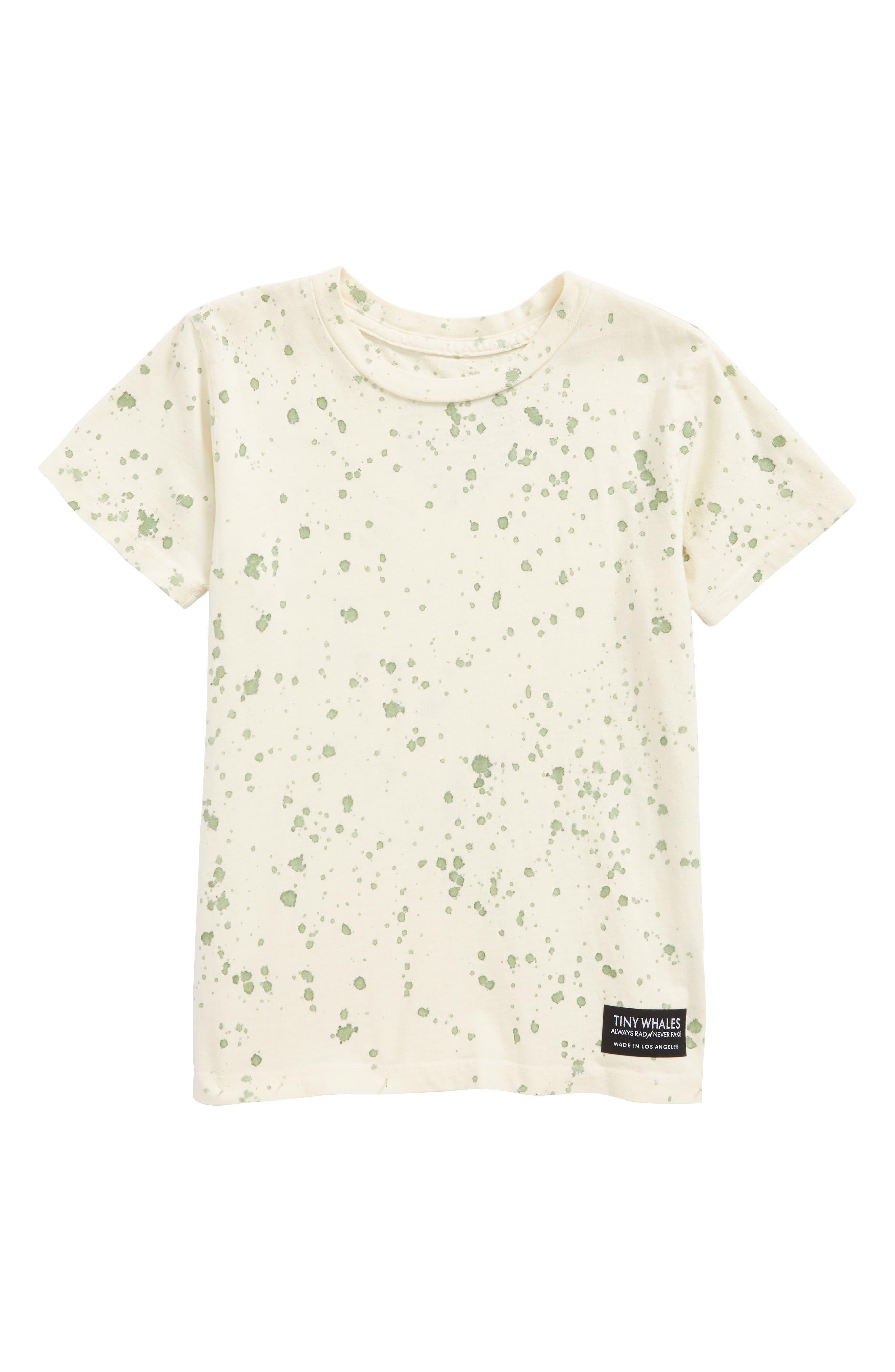 Splatter T-Shirt,                             Main thumbnail 1, color,                             Natural Green Splatter