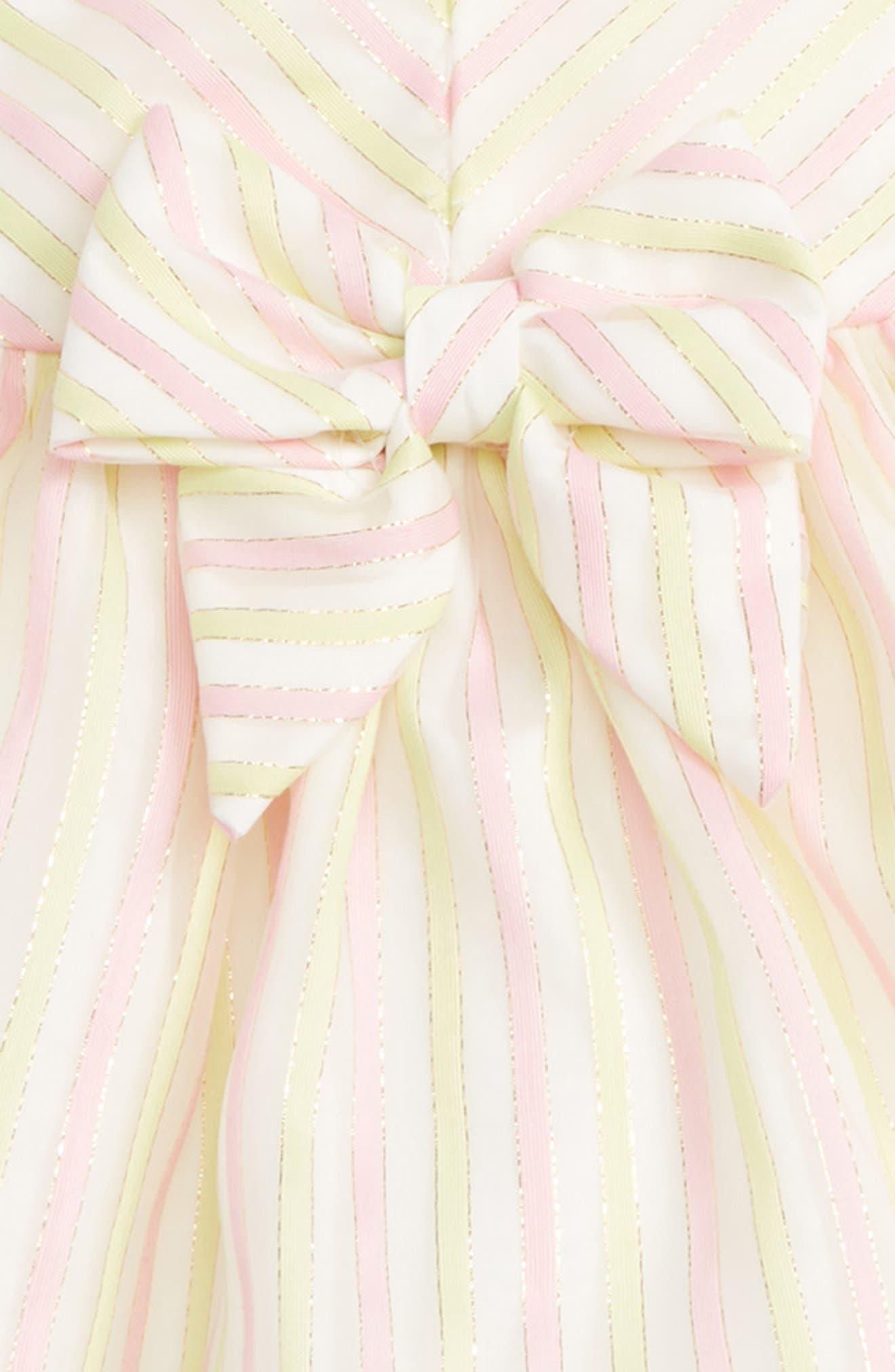Stripe Dress,                             Alternate thumbnail 2, color,                             Pink/ Yellow