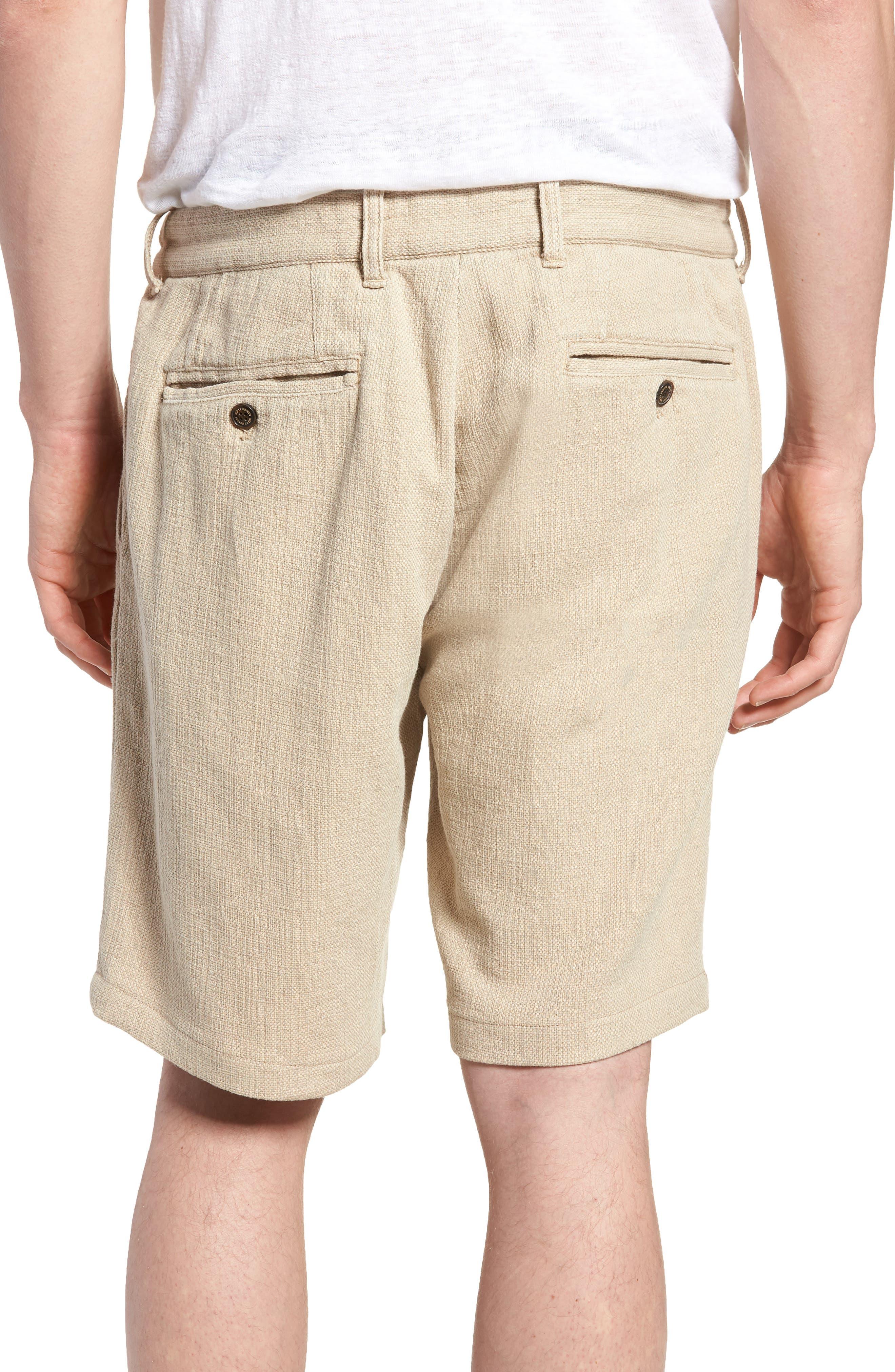 Thomas Regular Fit Pleated Shorts,                             Alternate thumbnail 2, color,                             Tan