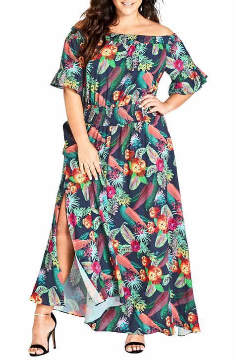 aaa403c87e City Chic Jungle Jam Maxi Dress (Plus Size)