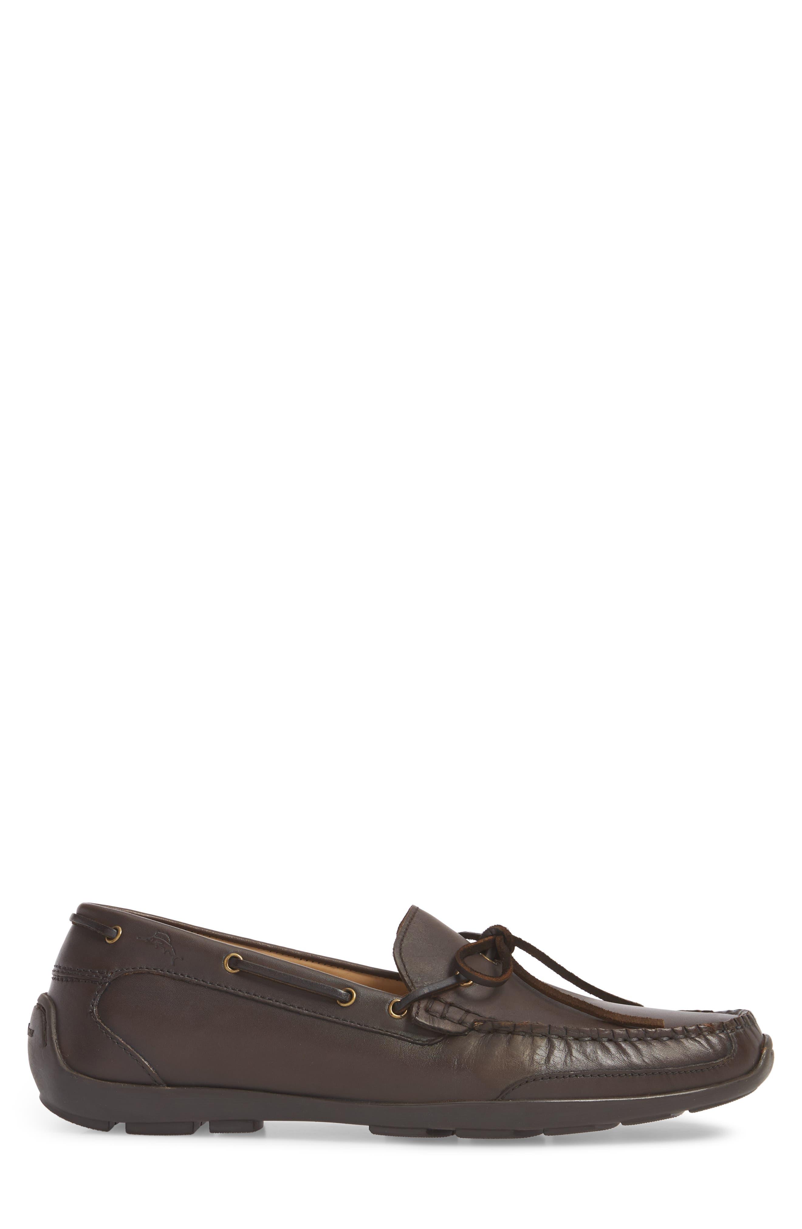 Tangier Driving Shoe,                             Alternate thumbnail 3, color,                             Medium Brown Leather