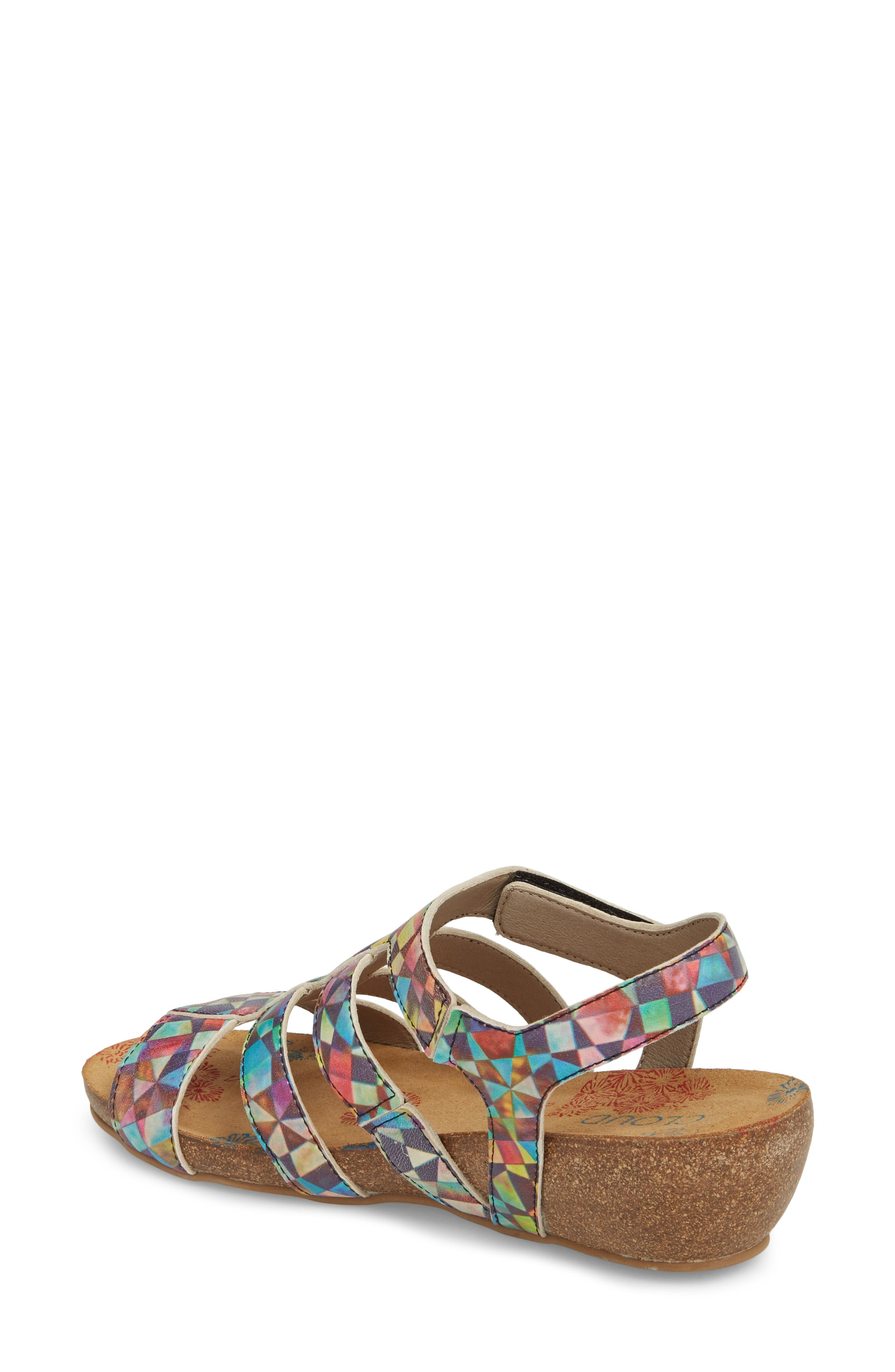 Delta Wedge Sandal,                             Alternate thumbnail 2, color,                             Mystere Leather