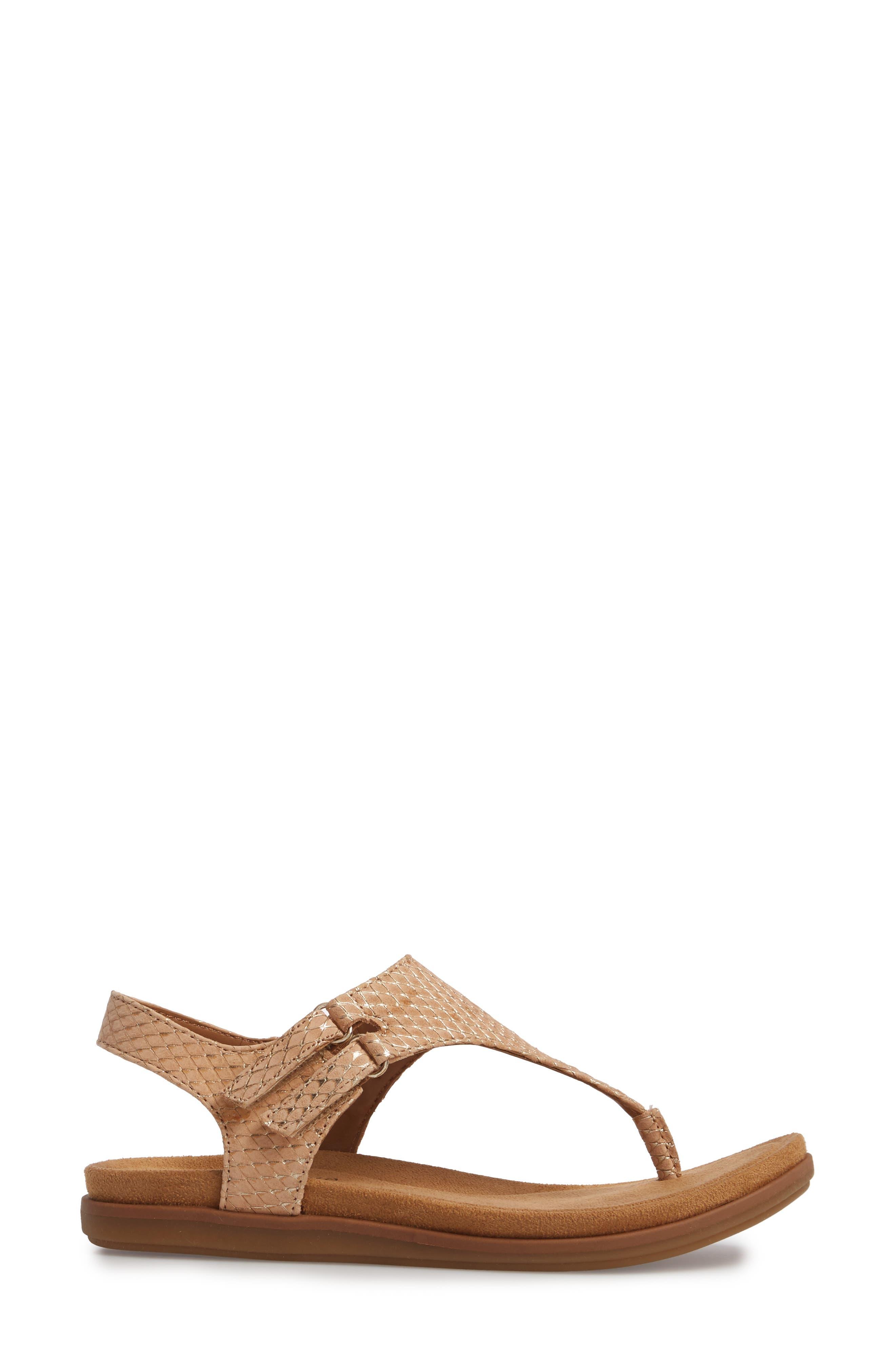 Calina Sandal,                             Alternate thumbnail 3, color,                             Sand Nubuck Leather