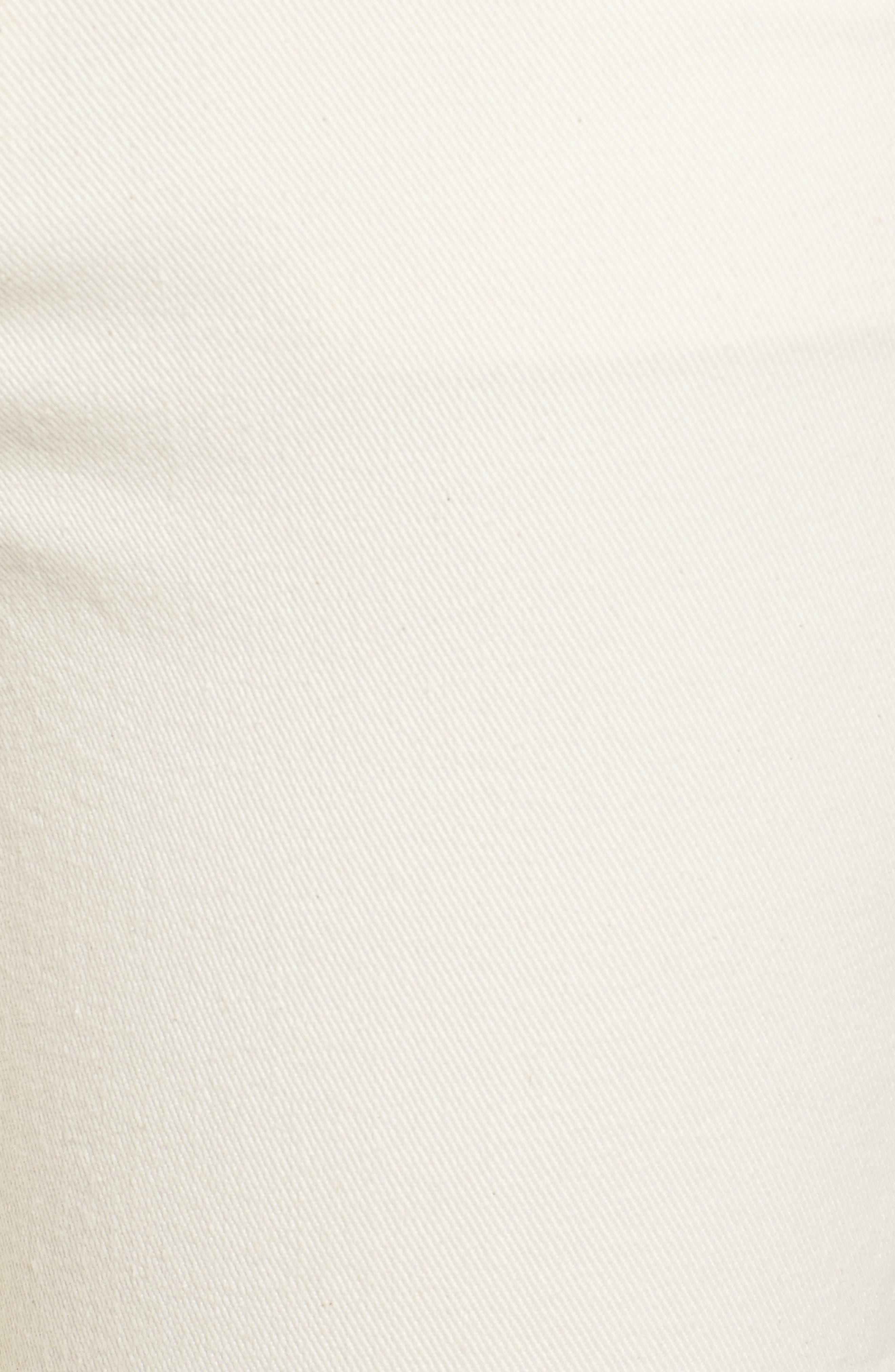 Demi Inset Stripe Skinny Jeans,                             Alternate thumbnail 6, color,                             Natural